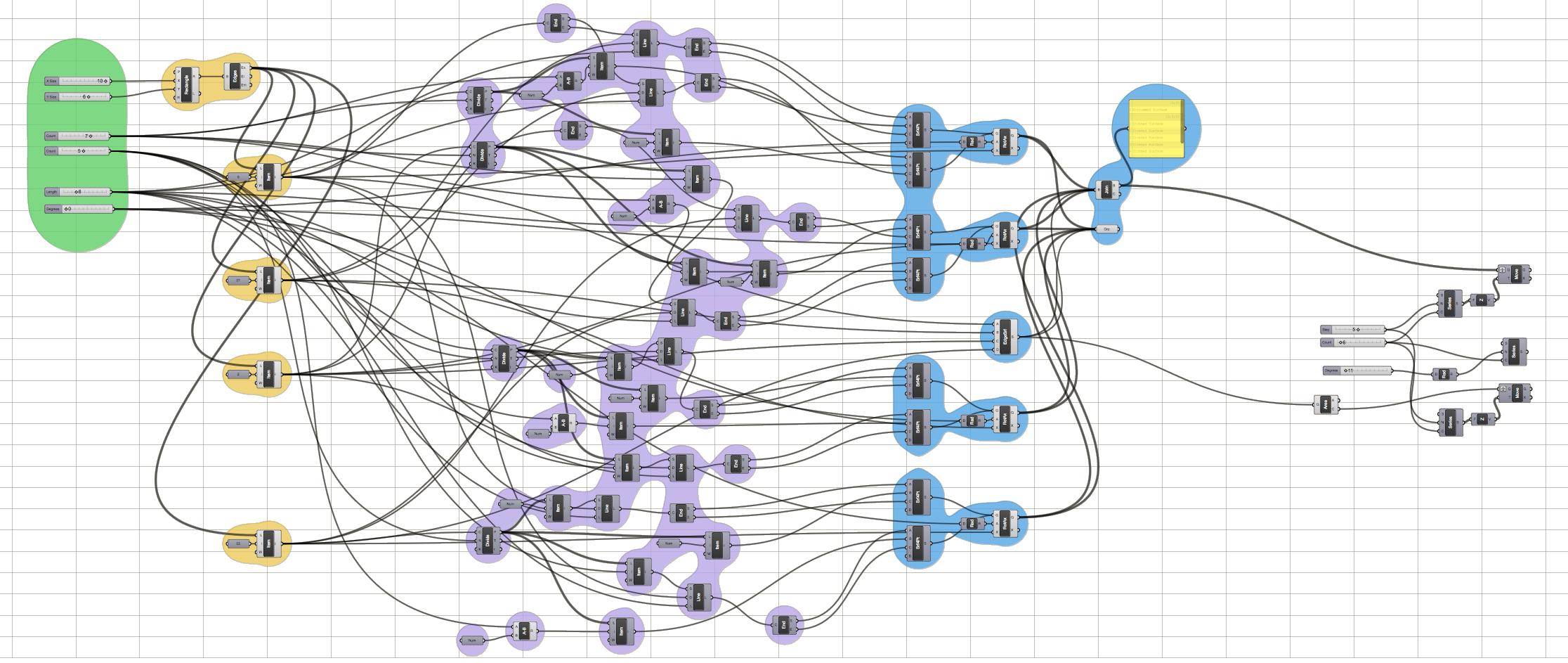 A longer script to create more intricate geometry