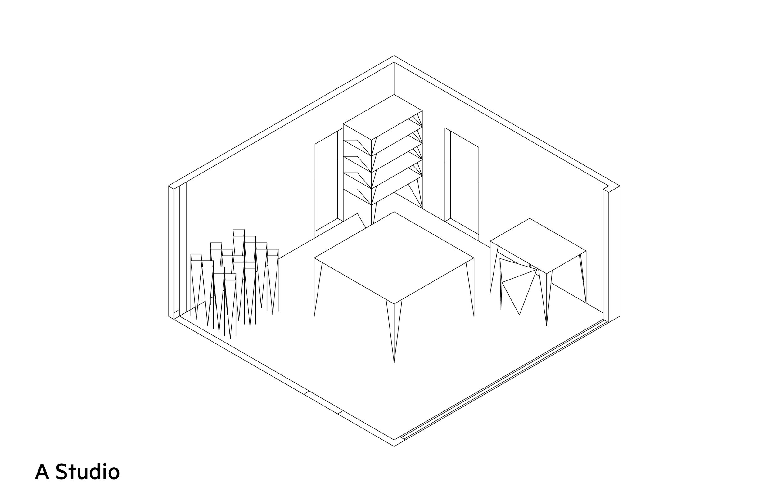 Entire rooms can be made up using this system, and then the furniture can be broken down and stored.