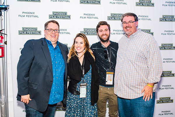 From Left PFF Exec Director Jason Carney, The Best People writer Selina Ringel, The Best People Director Dan Levy Dagerman, PFF Program Director Greg Hall