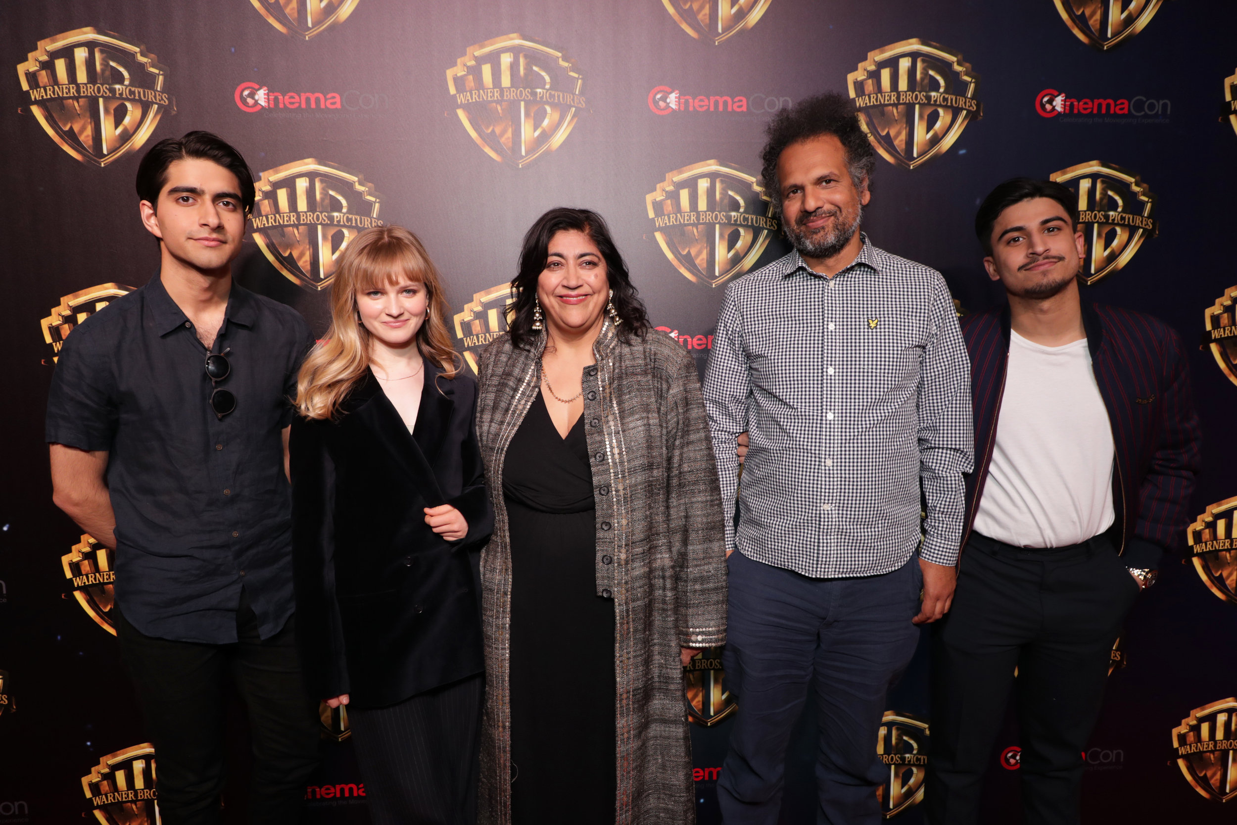 Copyright: © 2019 WARNER BROS. ENTERTAINMENT INC / Photo Credit: Dan Steinberg  Aaron Phagura, Nell Williams, Gurinder Chadha, Writer/Director/Producer, Sarfraz Manzoor, Writer, Viveik Kalra / Warner Bros. The Big Picture 2019 at CinemaCon 2019 at The Colosseum at Caesar's Palace, Las Vegas, NV, USA - 2 April 2019