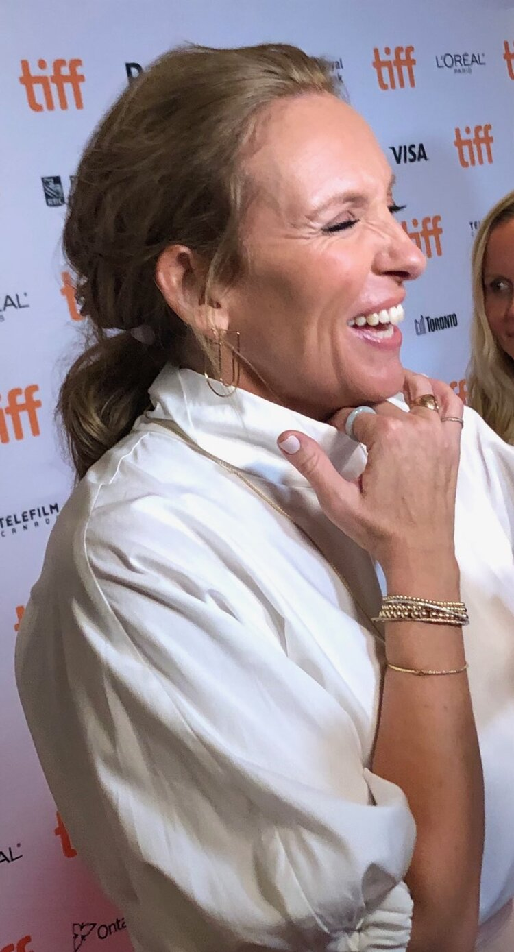 """Toni Collette at the world premiere of """"Knives Out""""."""