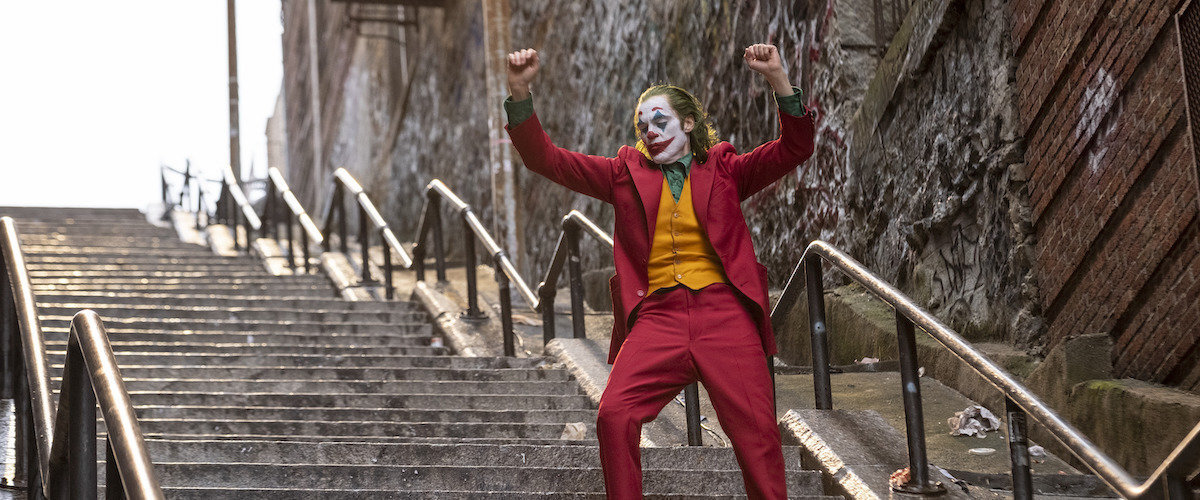 This image released by Warner Bros. Pictures shows Joaquin Phoenix in a scene from Joker. (AP)