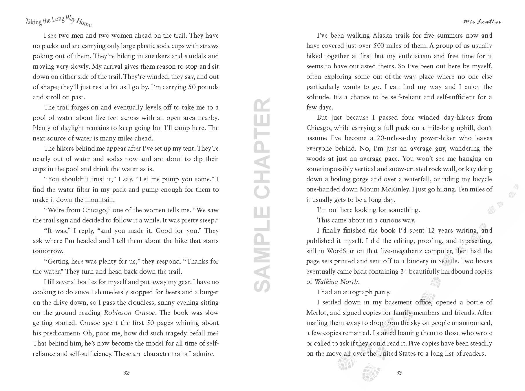 Taking The Long Way Home sample chapter pg 3 & 4