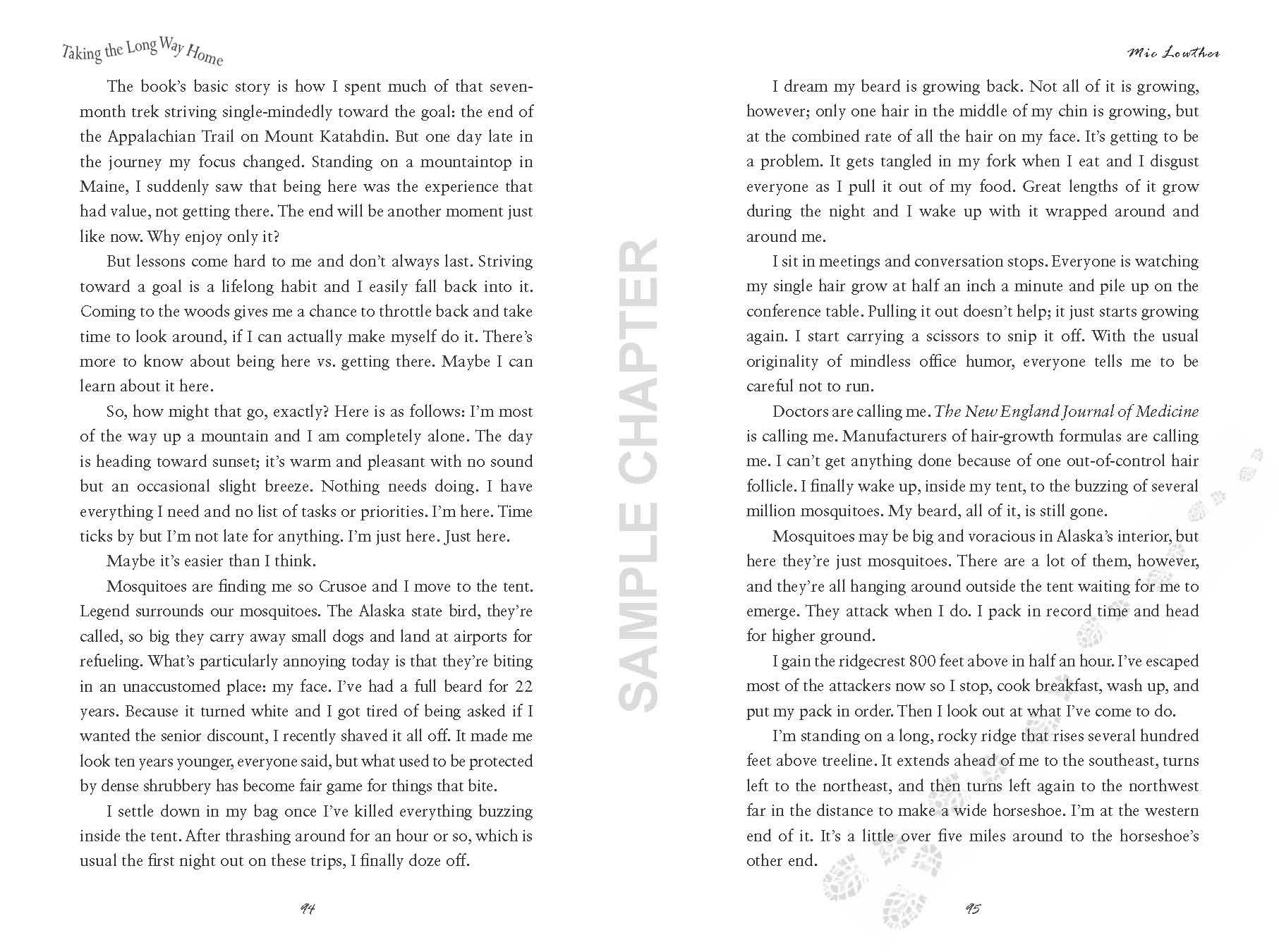 Taking The Long Way Home sample chapter pg 5 & 6