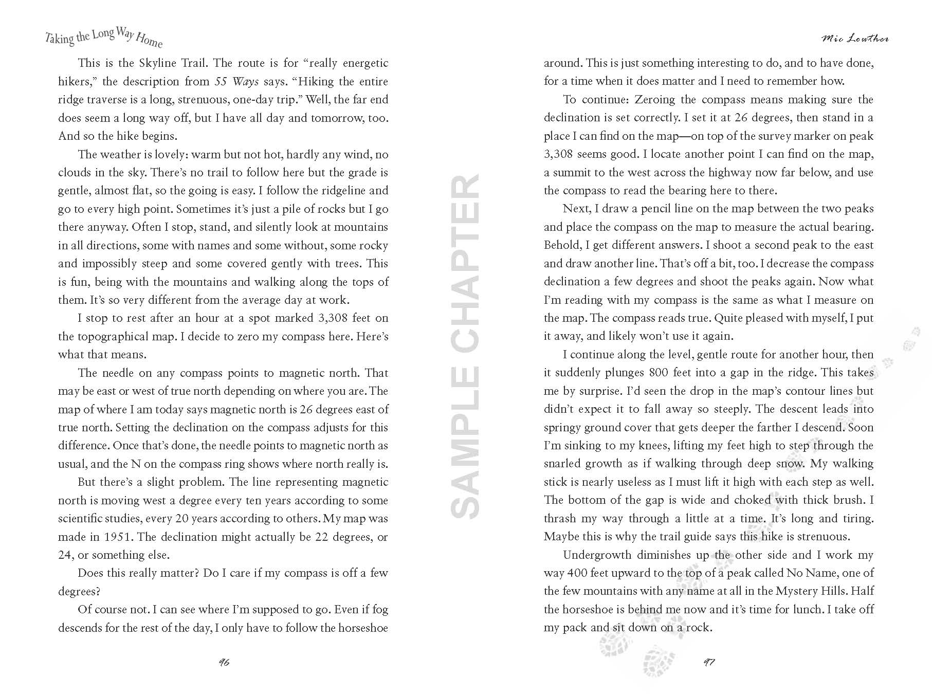 Taking The Long Way Home sample chapter pg 7 & 8