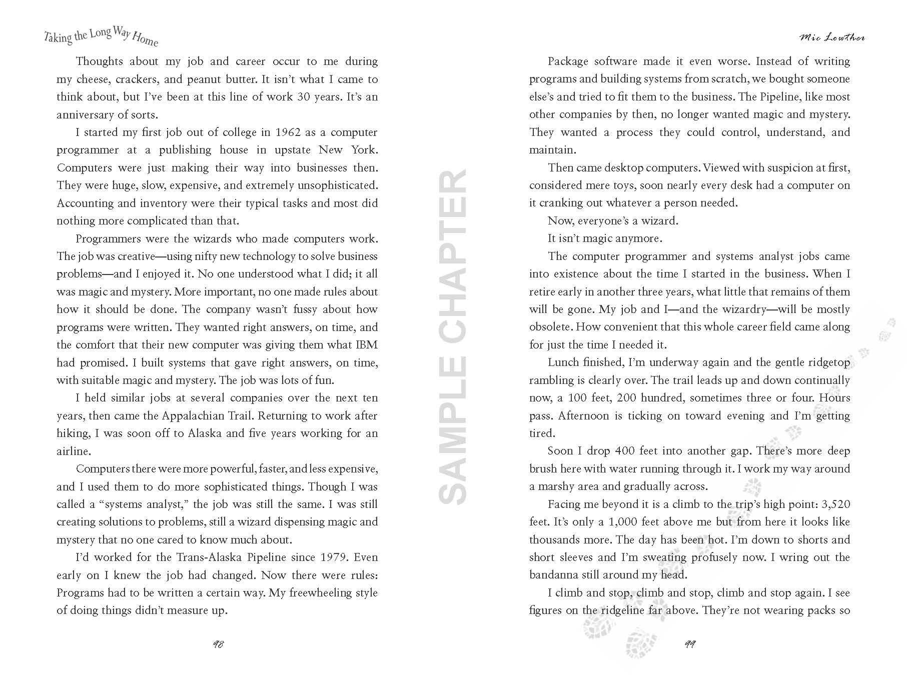 Taking The Long Way Home sample chapter pg 9 & 10