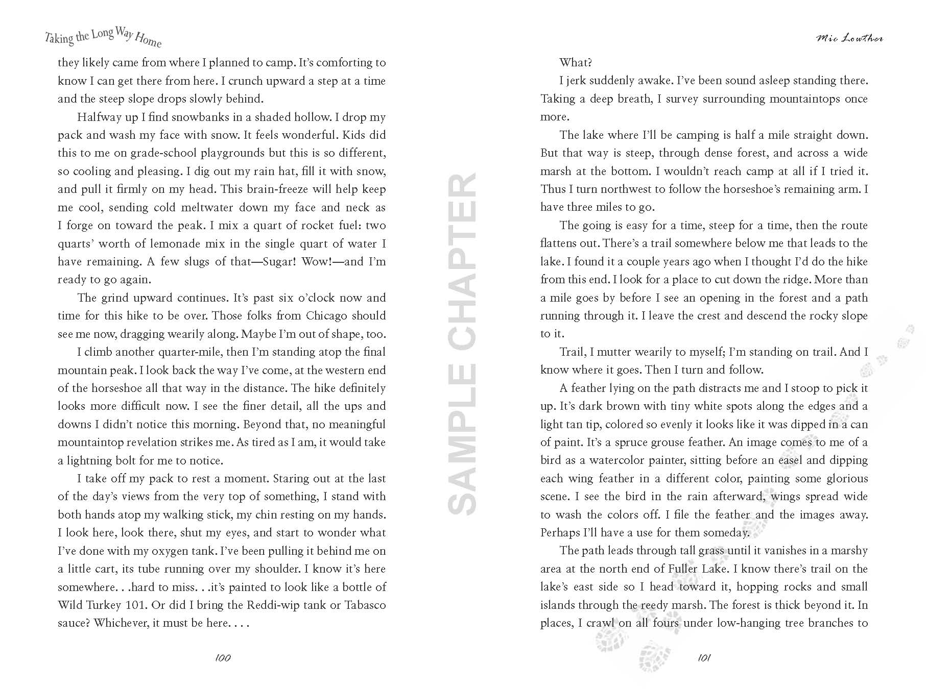 Taking The Long Way Home sample chapter pg 11 & 12