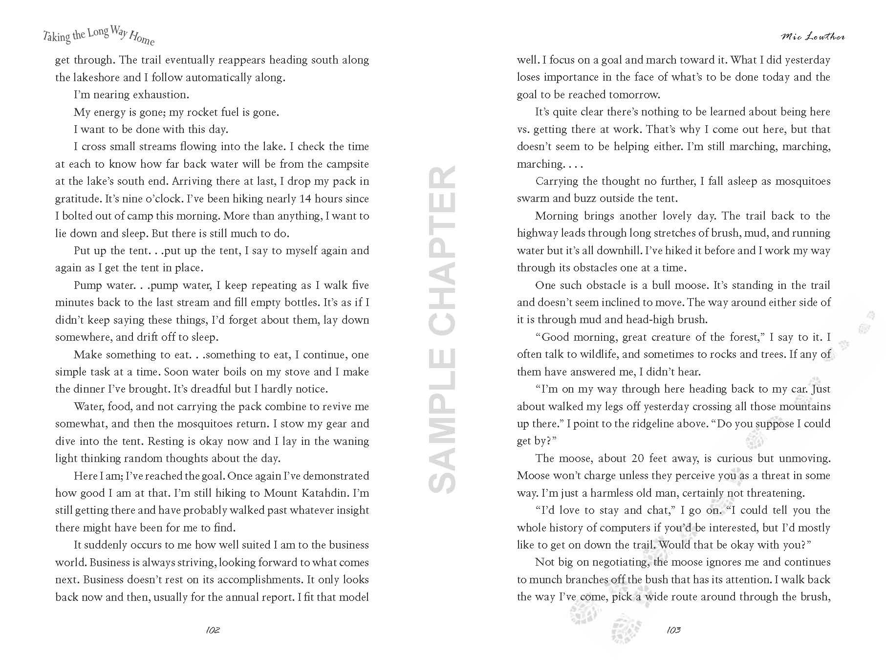 Taking The Long Way Home sample chapter pg 13 & 14