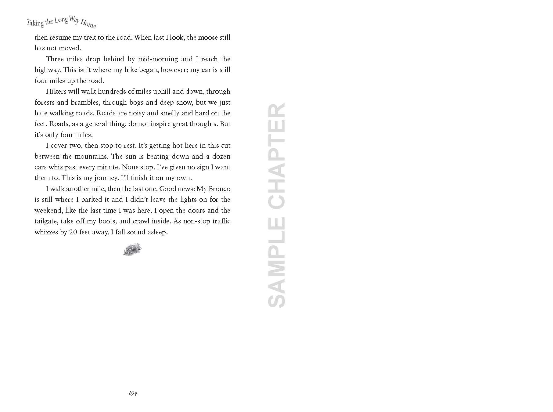 Taking The Long Way Home sample chapter pg 15 end