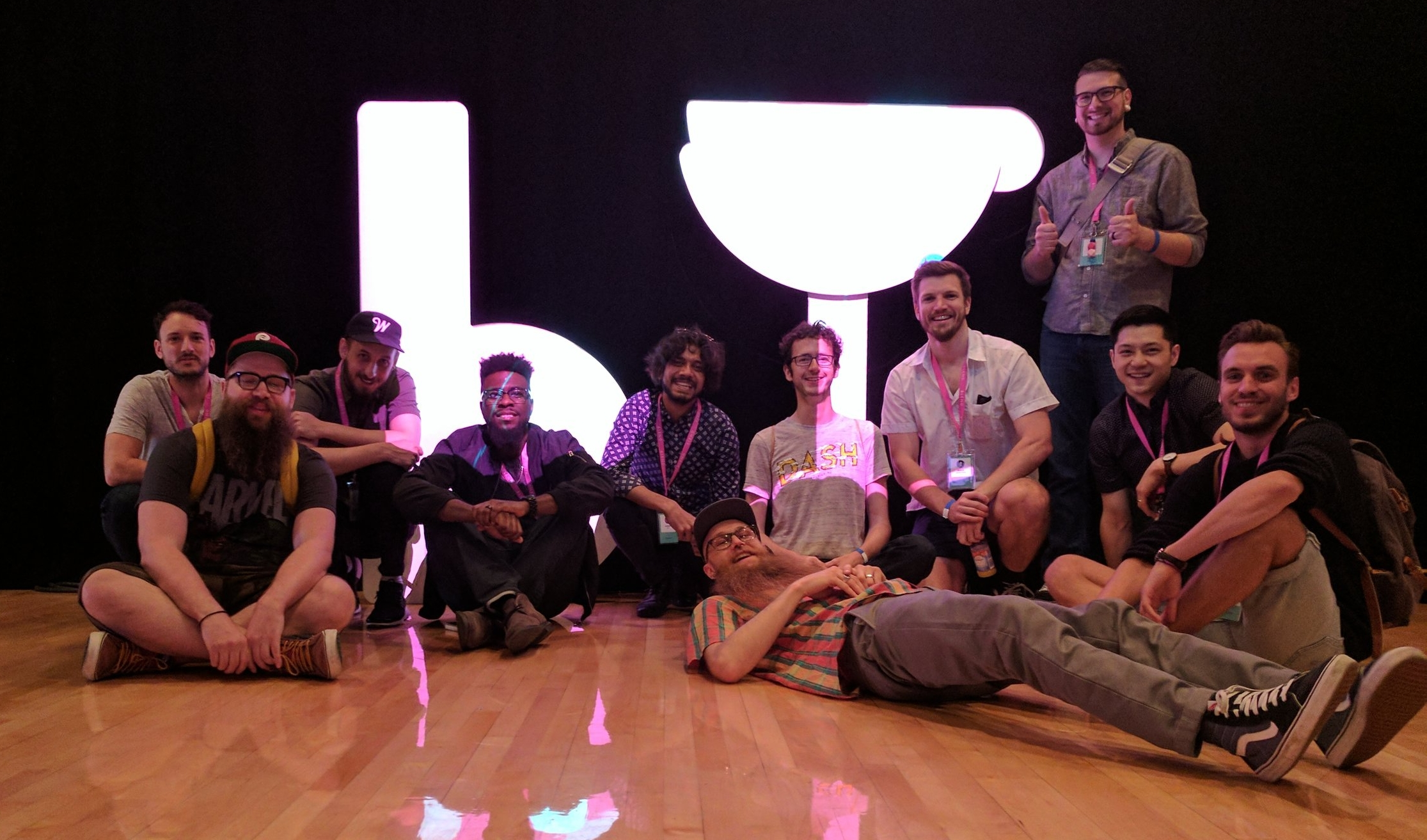 Some of the amazingly talented peeps who worked on this piece, and were able to make it to Blend 2017!