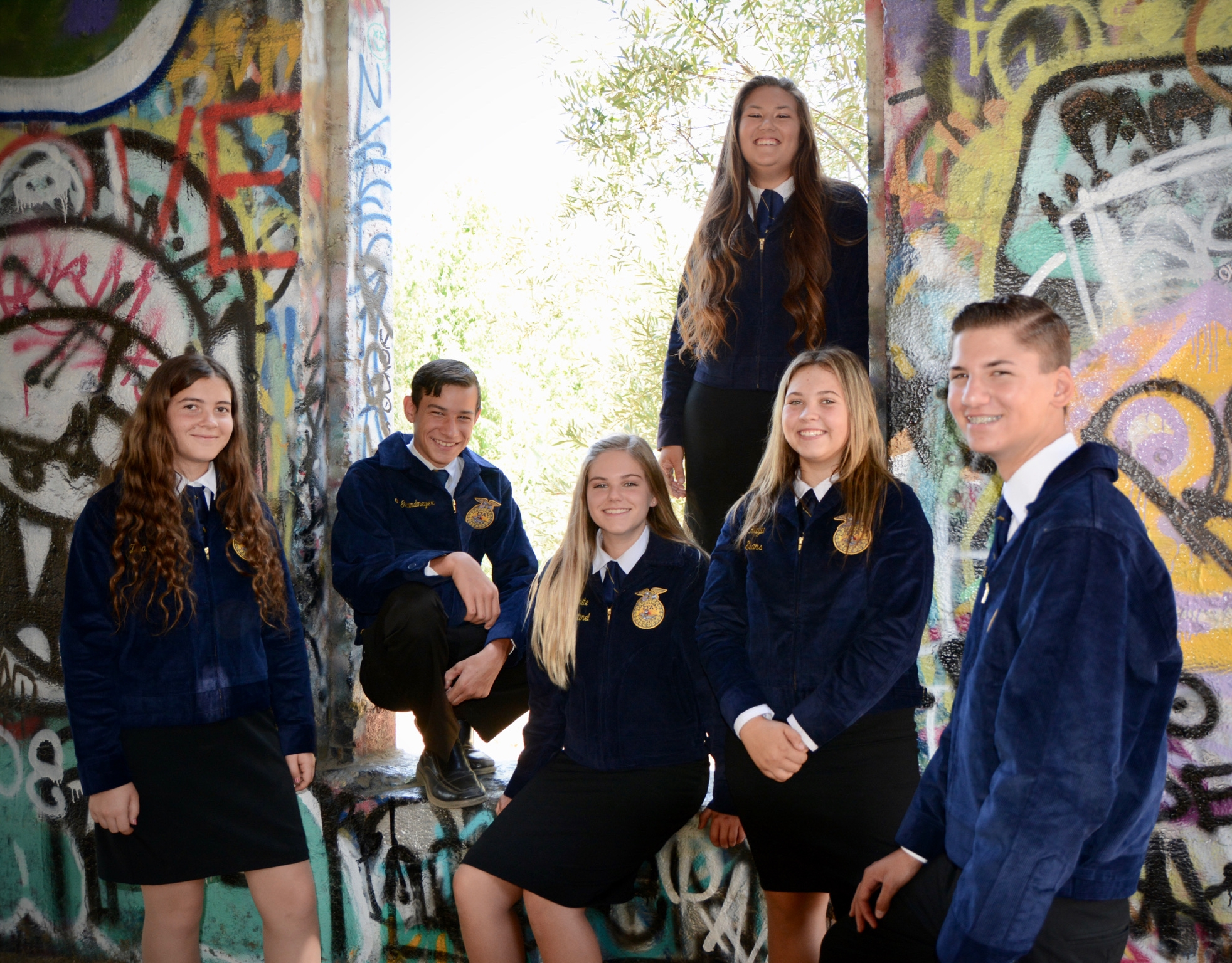 2017-18 Norco FFA Chapter Officer Team