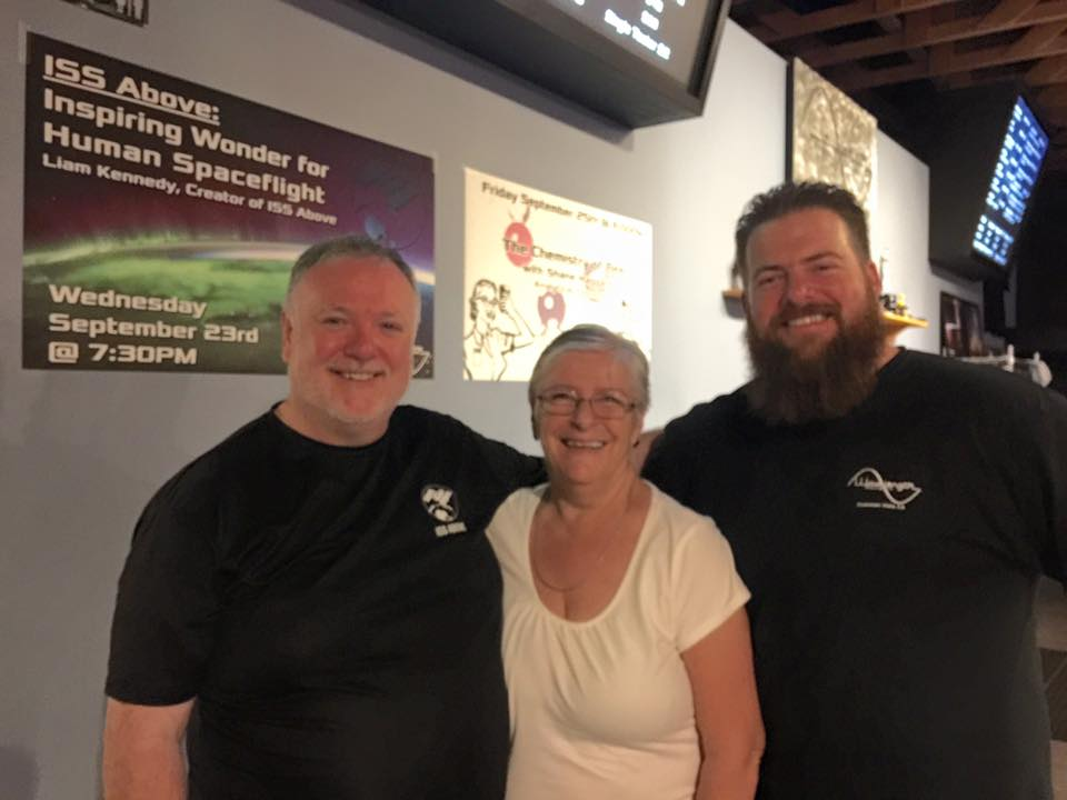 LIAM AND ANNA WITH HANS FREDRICK HAAS, OWVER OF WAVELENGTH BREWERY