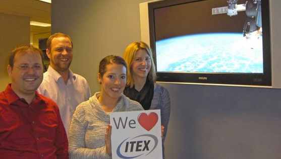 ITEX enjoying their ISS-above in their office lobby