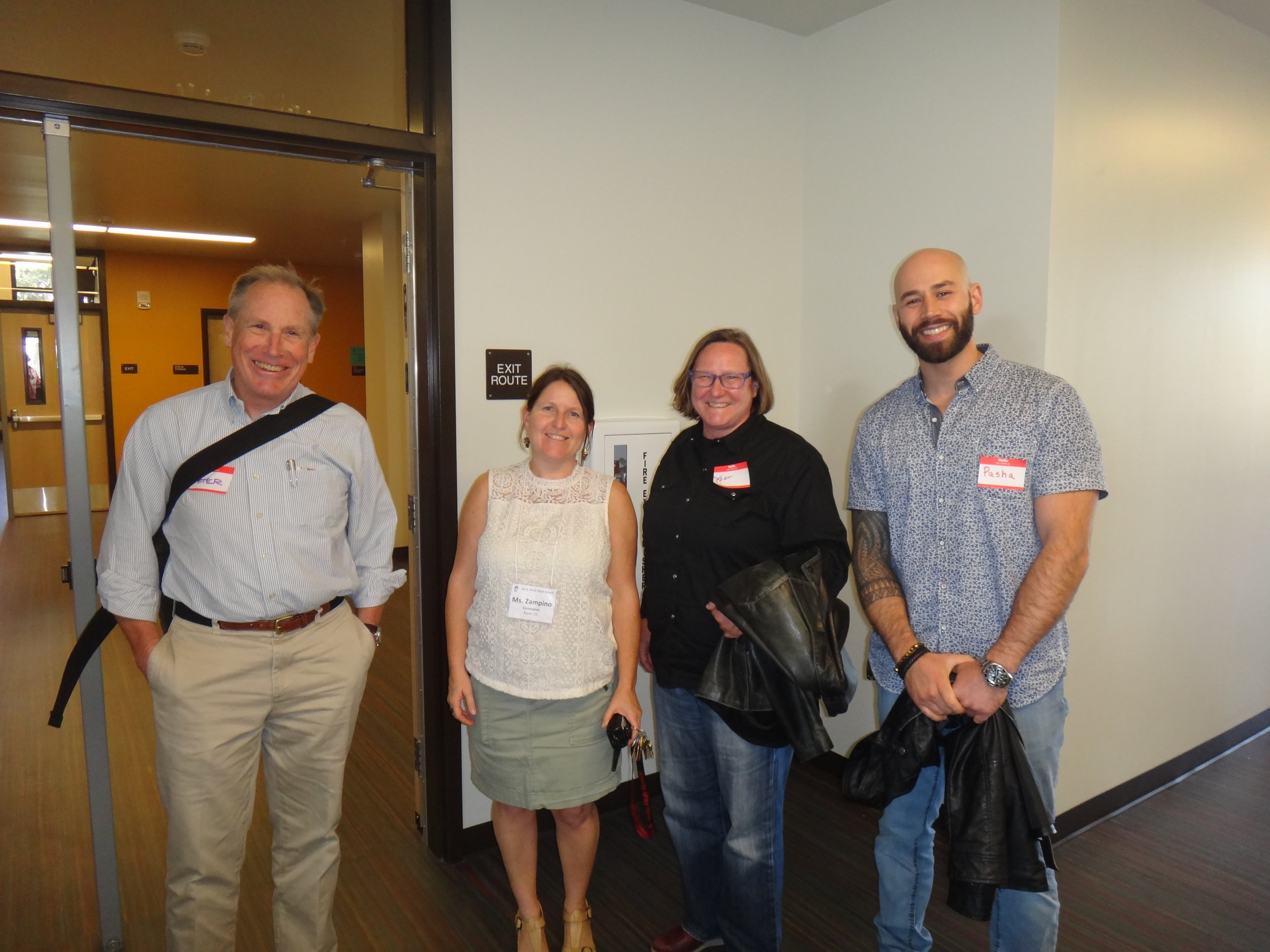 """Now that school is underway, the staff led tours of their newly renovated school to the community. Ms. Zampino was an energetic tour guide for the architects and Pasha Filippov from One Work Place who did a fantastic job outfitting the school with modern furnishings.Ms. Zampino, a counselor at Ida B Wells, told us that upon returning, one of her students felt as if """"she was on a movie set!"""""""
