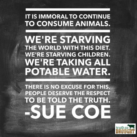 A quote from Sue Coe's LAIKA Magazine interview. Click on the graphic for context on what she is referring to from a scientific and academic standpoint.