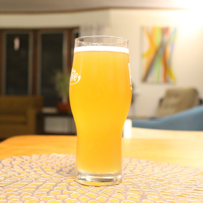 After sitting in a keg for over a week, still has that beautiful wheat haze.