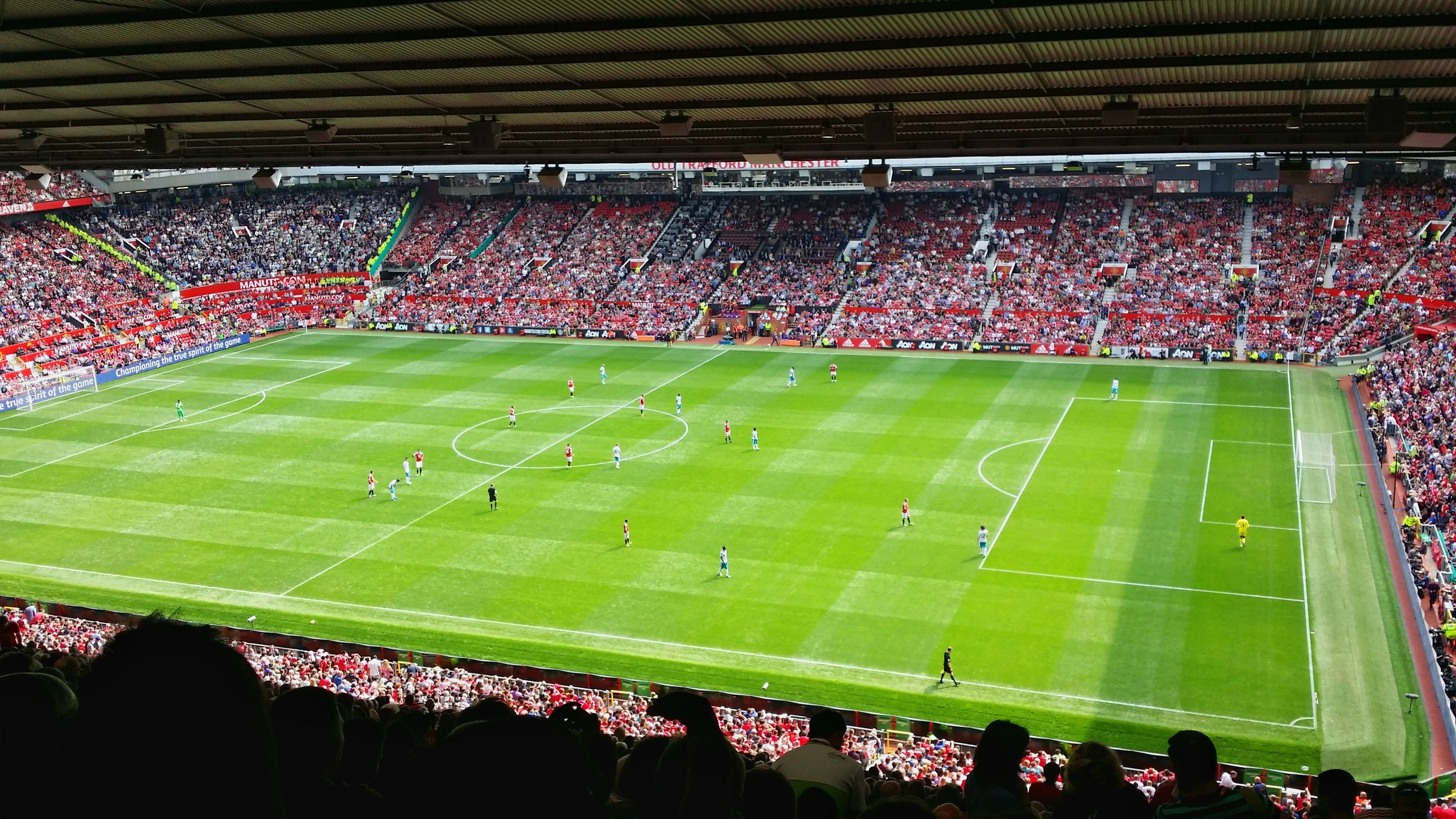 the view from our sir alex ferguson stand seats on game day.