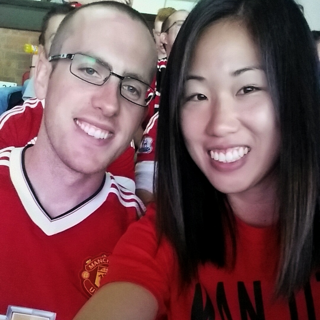 wearing our man u merch in support of our team!