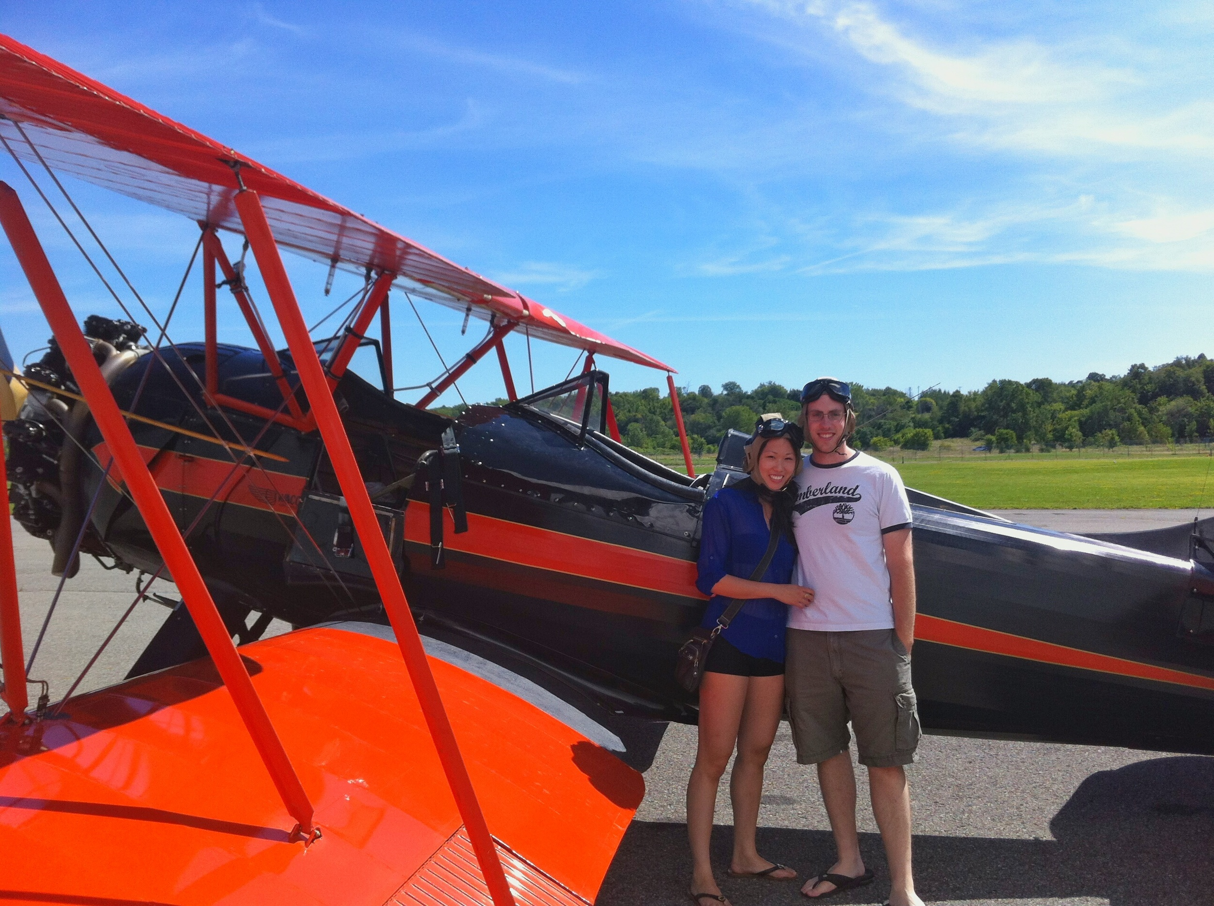 Another birthday surprise for Matt in 2013 - A ride in a 1939 circa open cock pit biplane at the Aviation Museum in Ottawa.