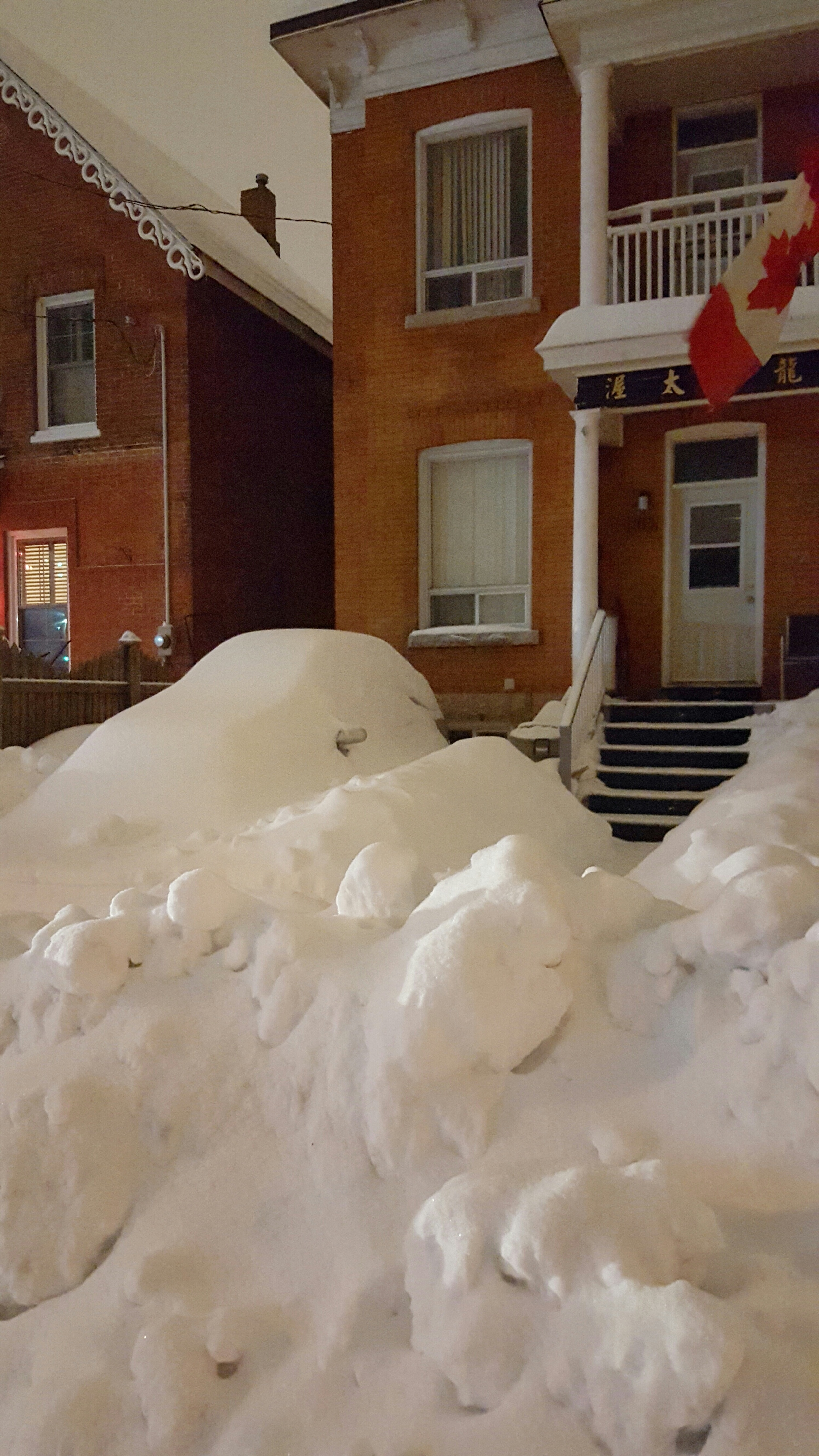 We might get snow like this from time to time, but we definitely don't live in igloos, wear tuques all year round and own dog sleds. I mean, some of us might, but those are personal choices. I'm not one to judge (photo taken in Chinatown, Ottawa).