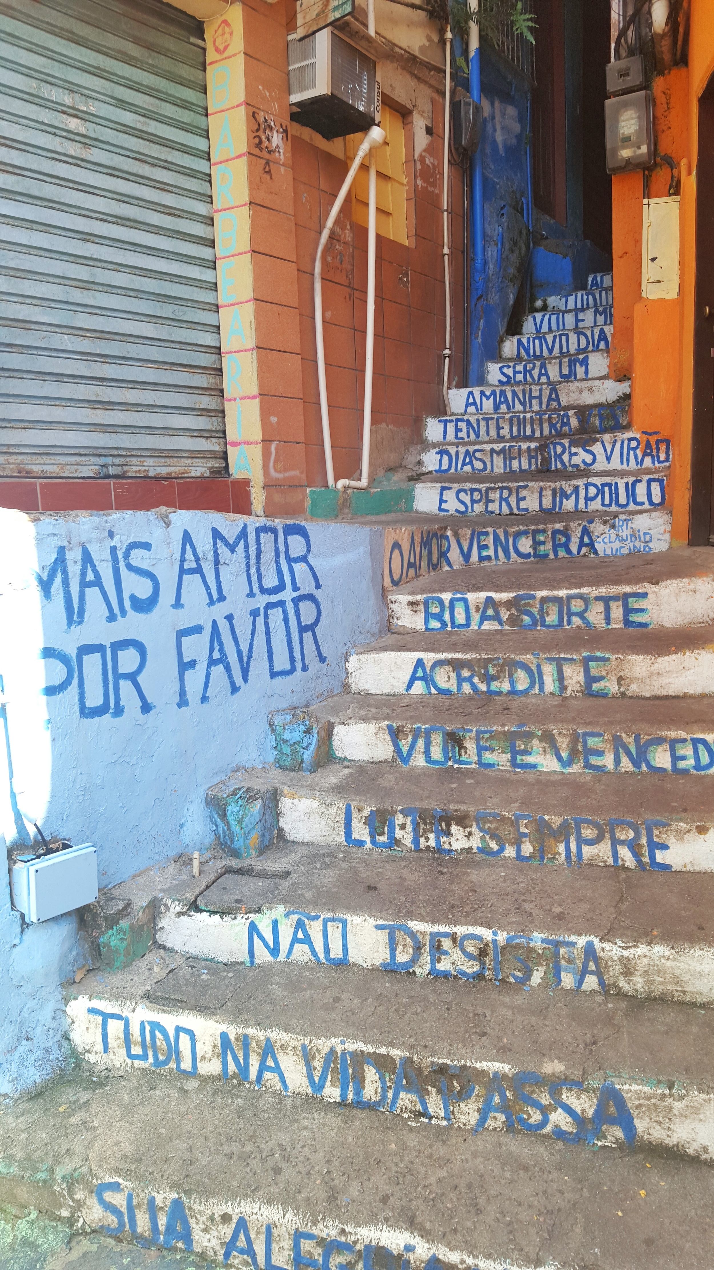 Inspirational stairs found in favela in Rio de Janeiro