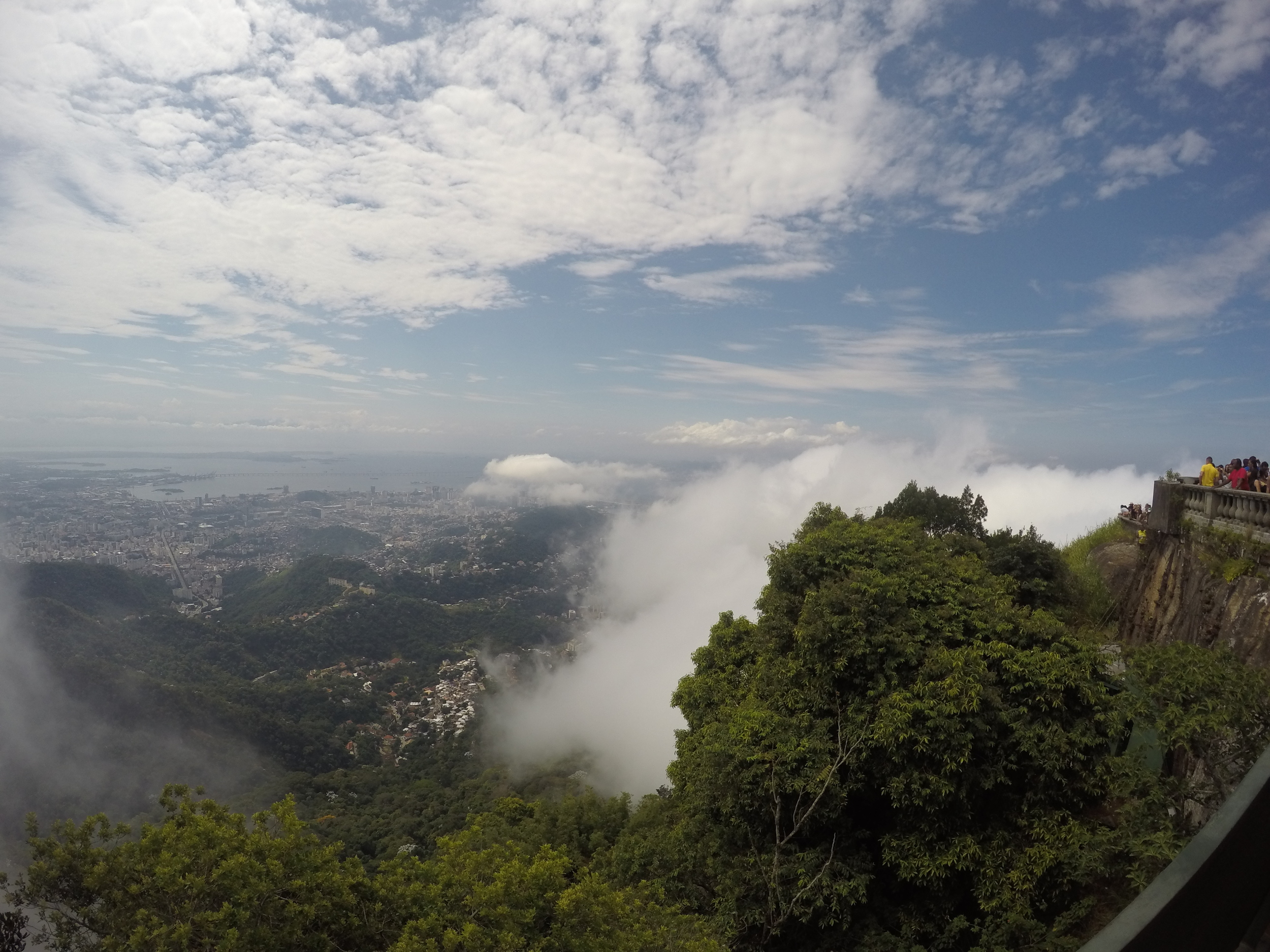The view of Rio de Janeiro from the top of Corcovado Mountain and Christ Redeemer