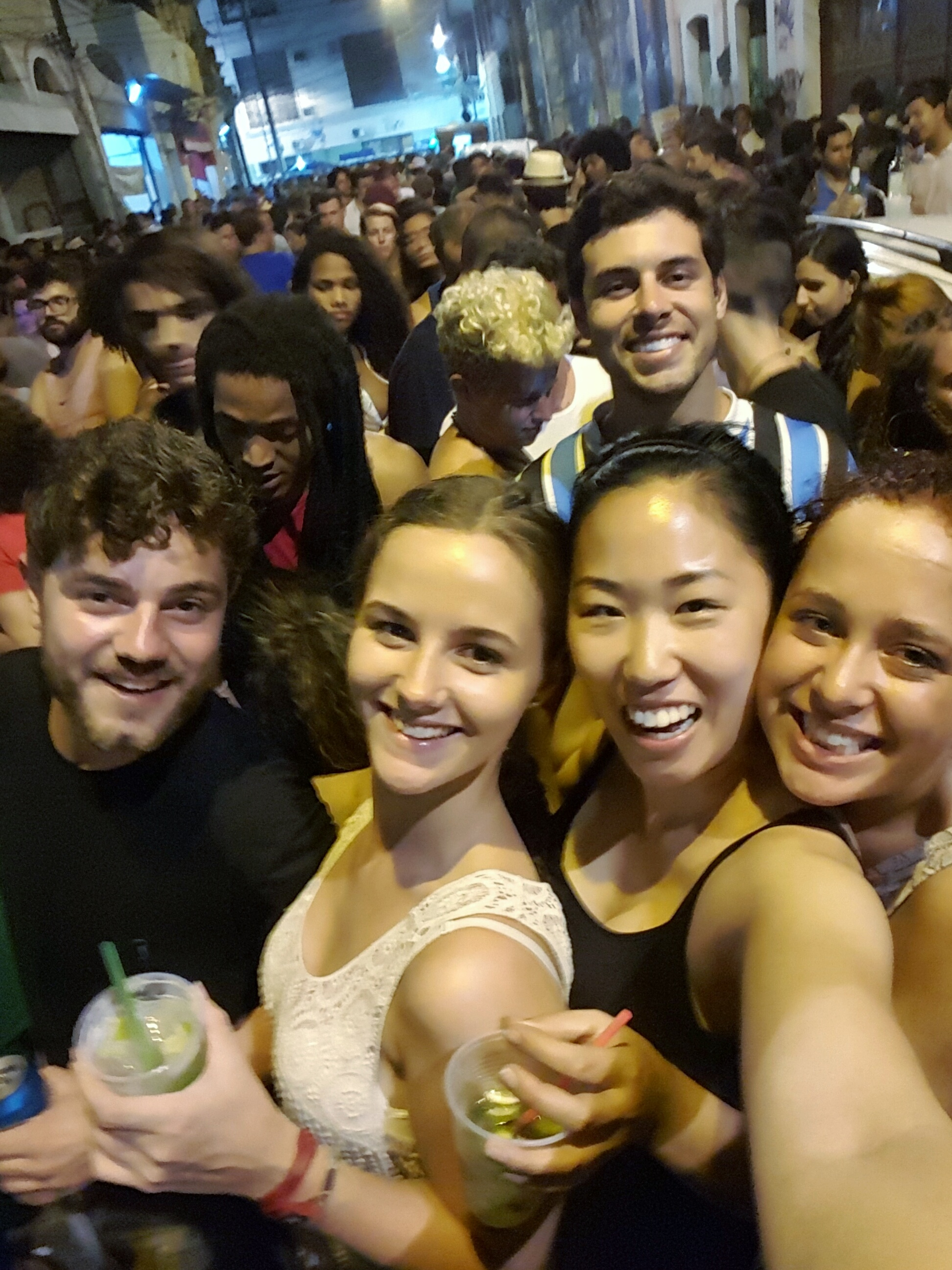 Samba party in the streets of Centro