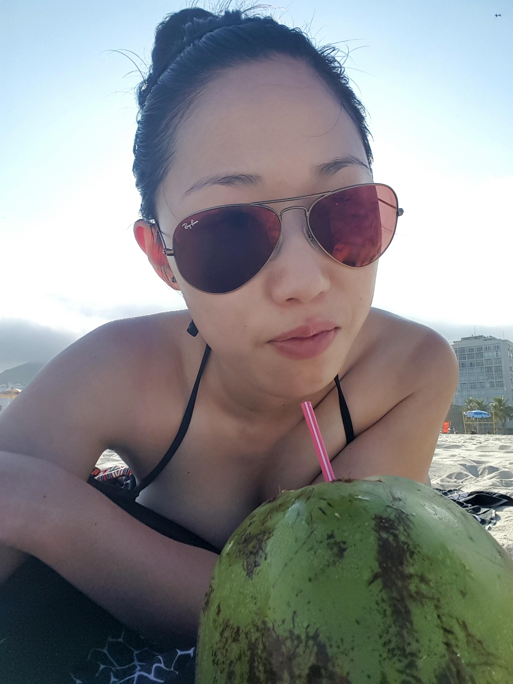 Cocounut on Copacabana Beach