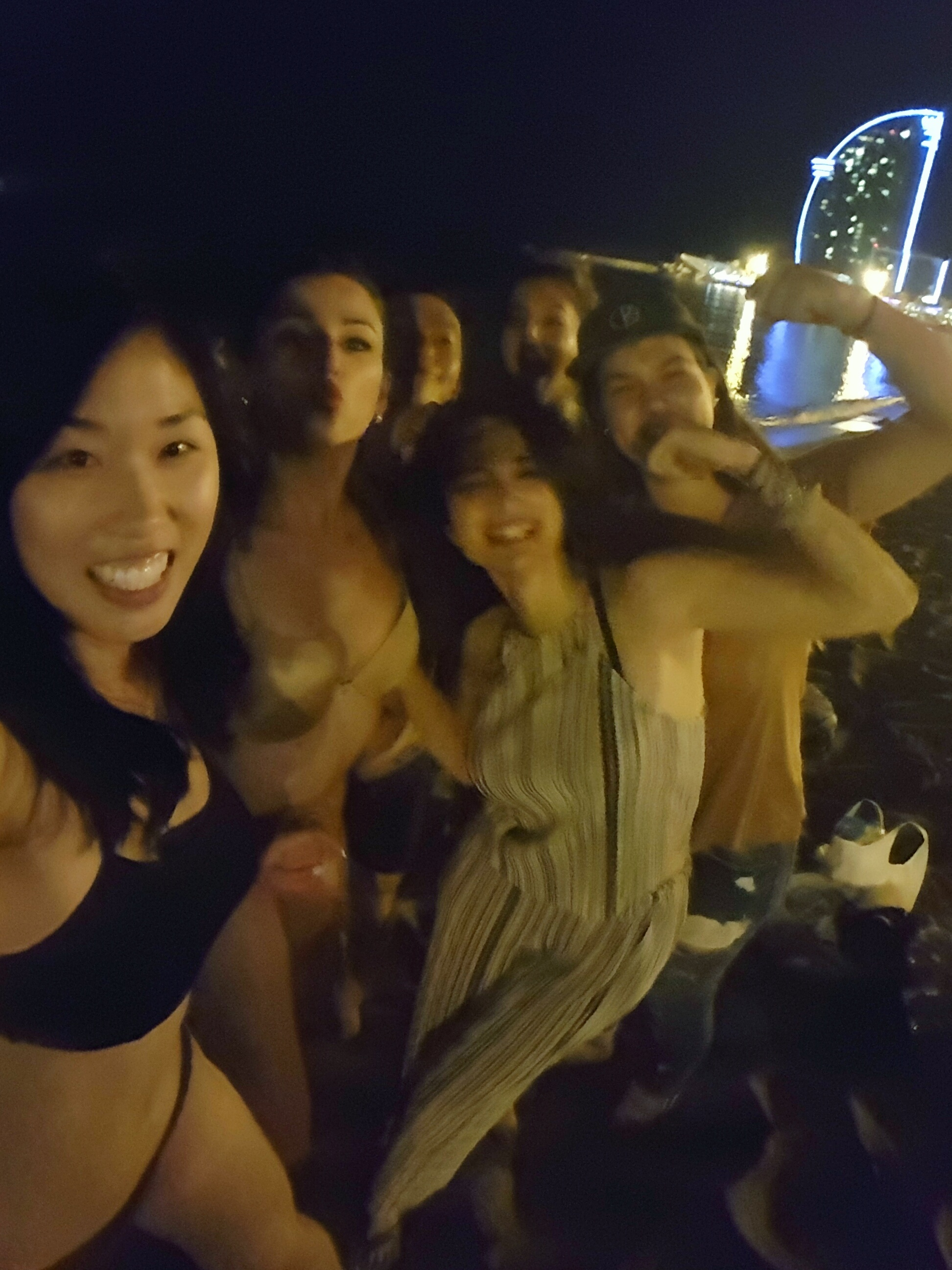 Our self-made beach party in Barcelona