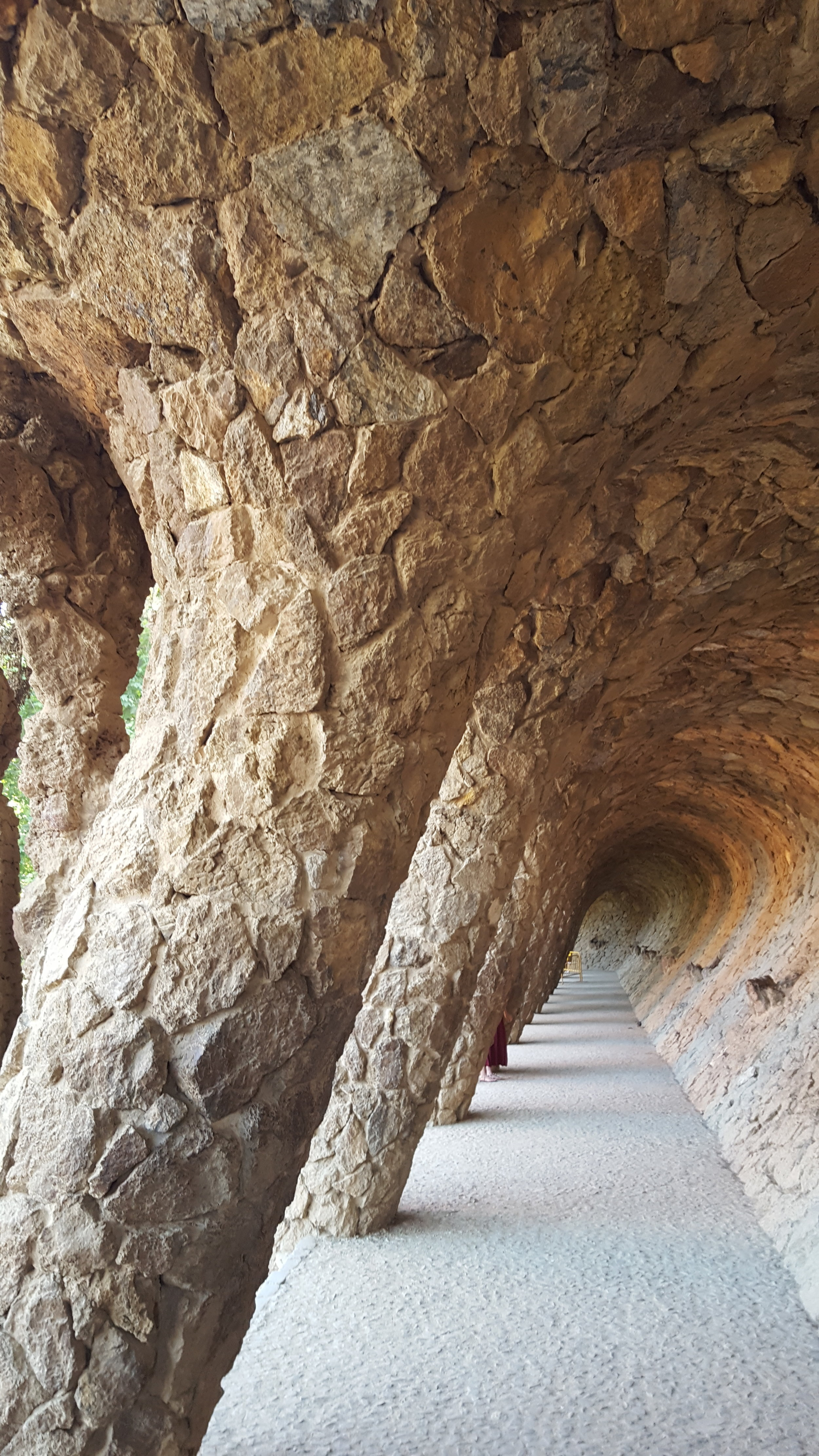 On the grounds of Park Guell