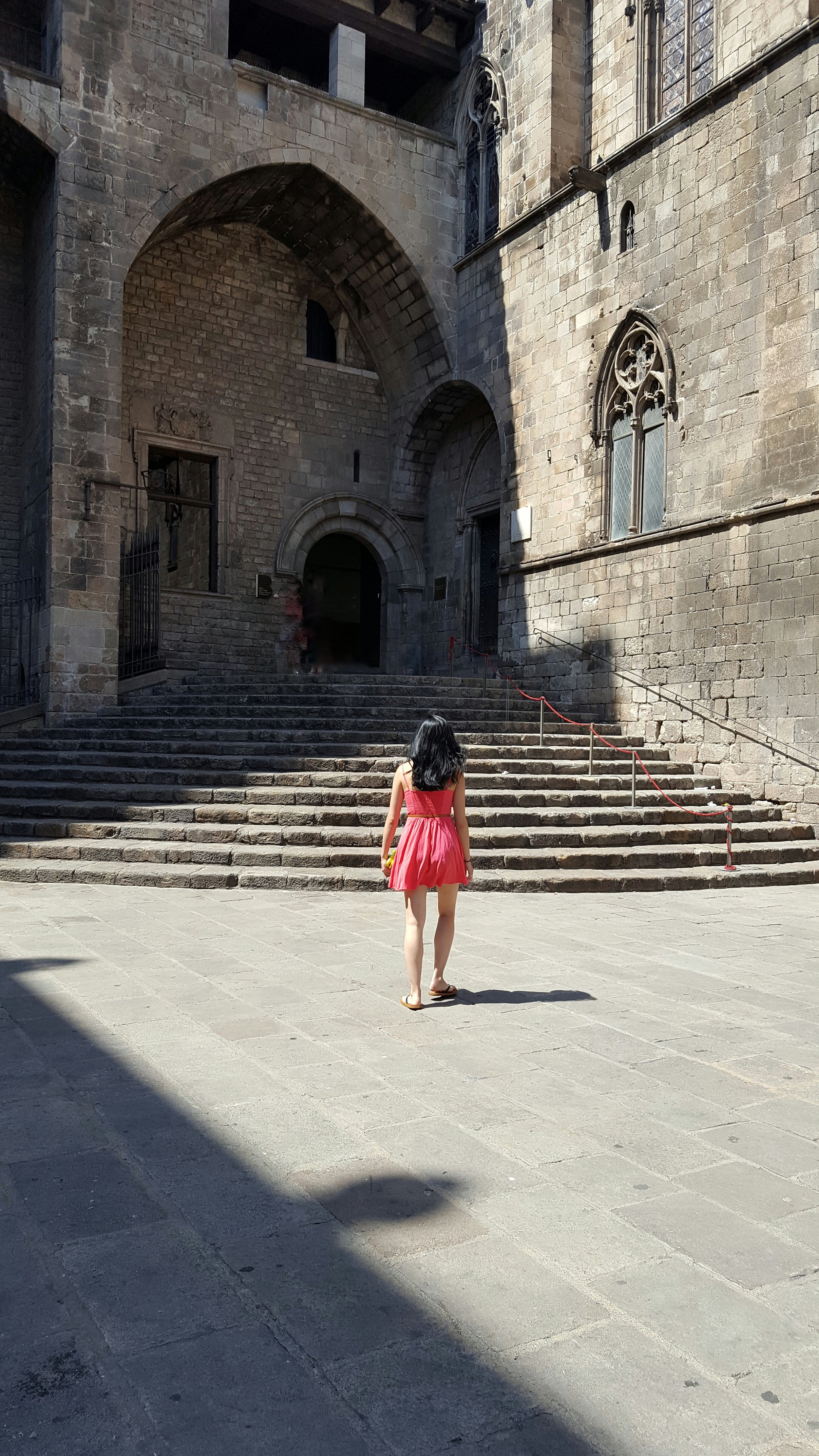 The steps that Christopher Columbus climbed to announce his discover of the New World.