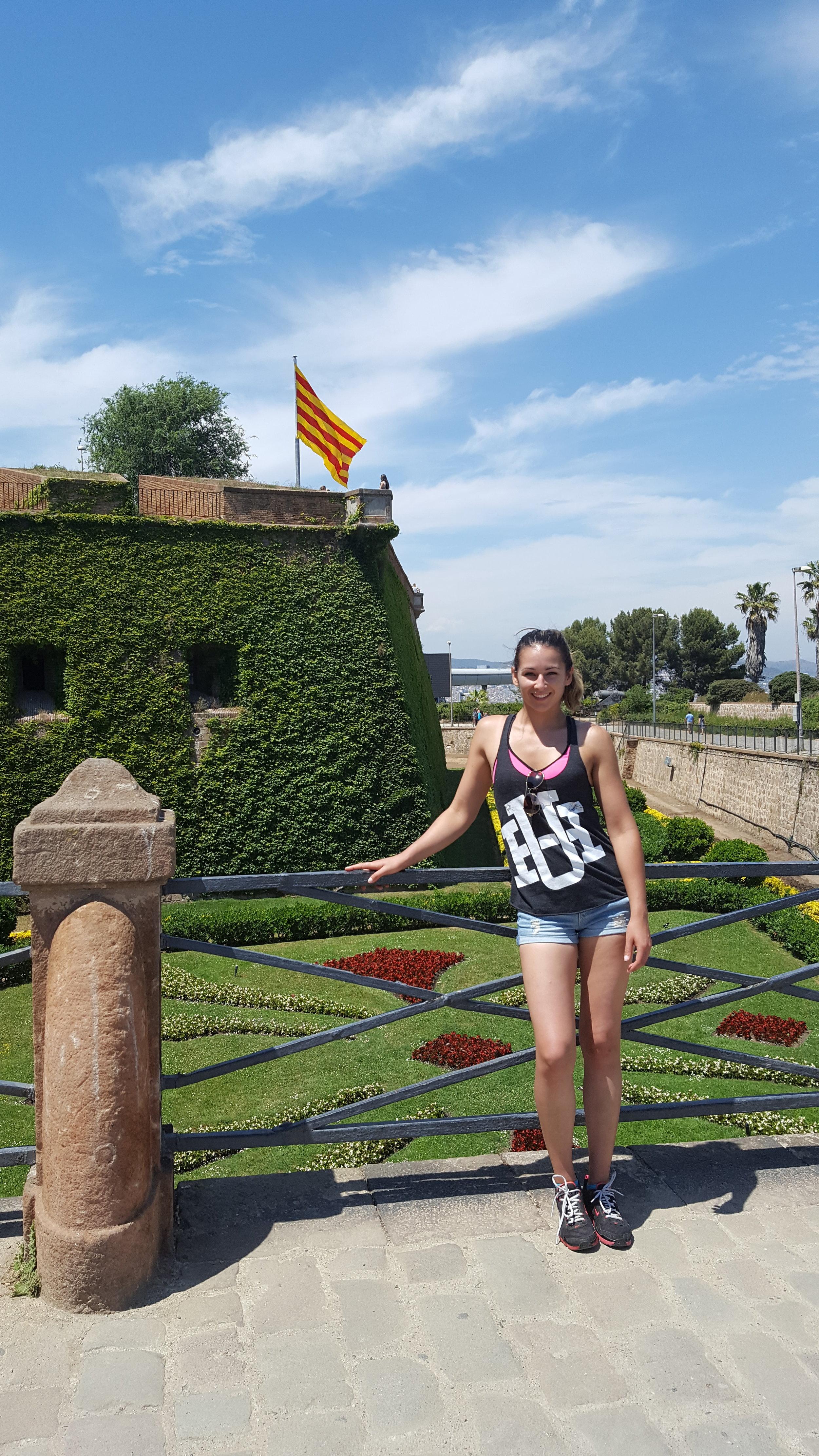 The castle's moat