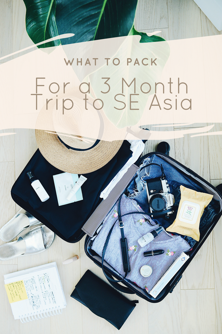 What to Pack for a 3 Month Trip to Southeast Asia - AIMINGFORAWE.COM