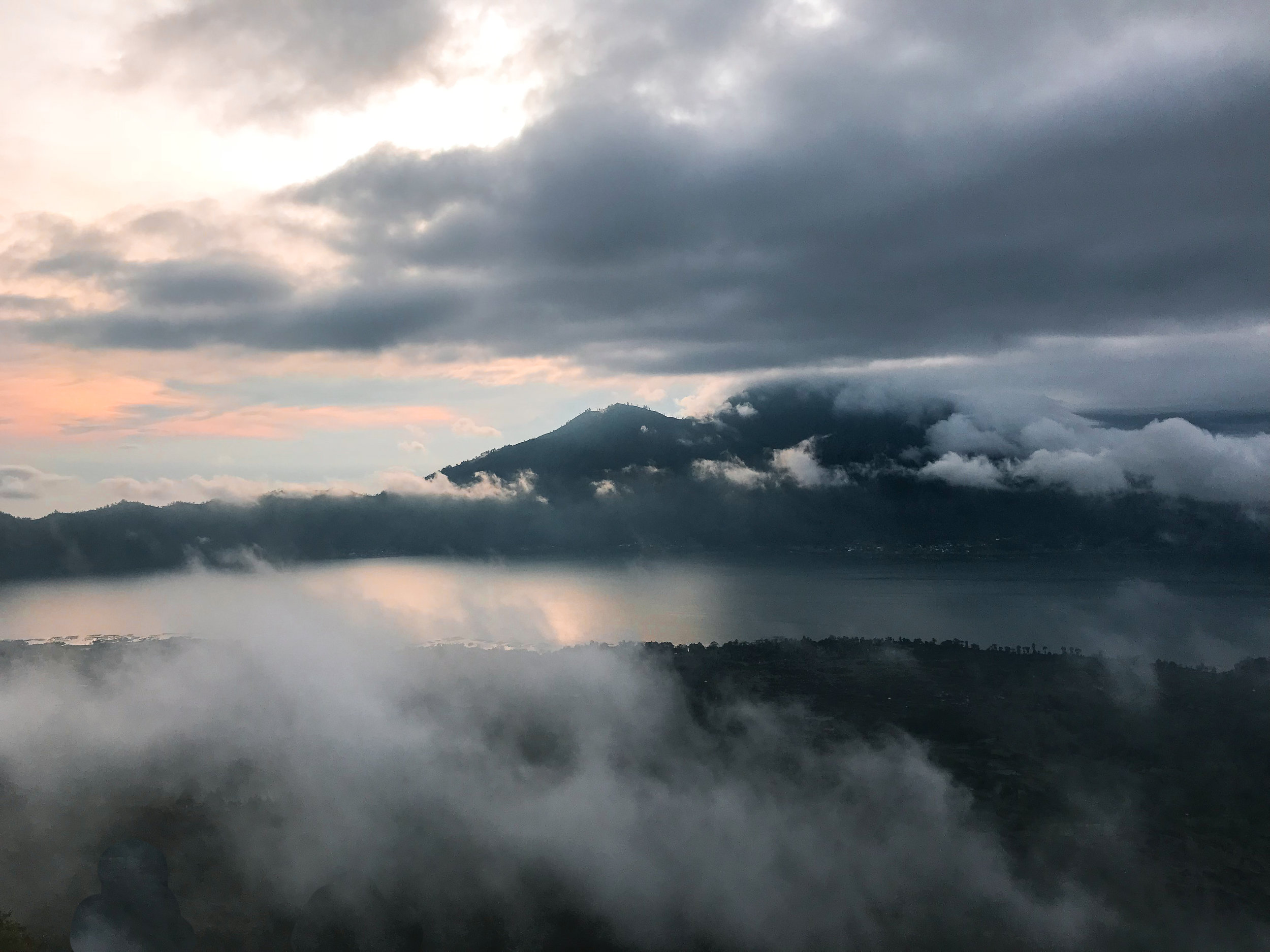 View from the top of Mount Batur in Bali, Indonesia
