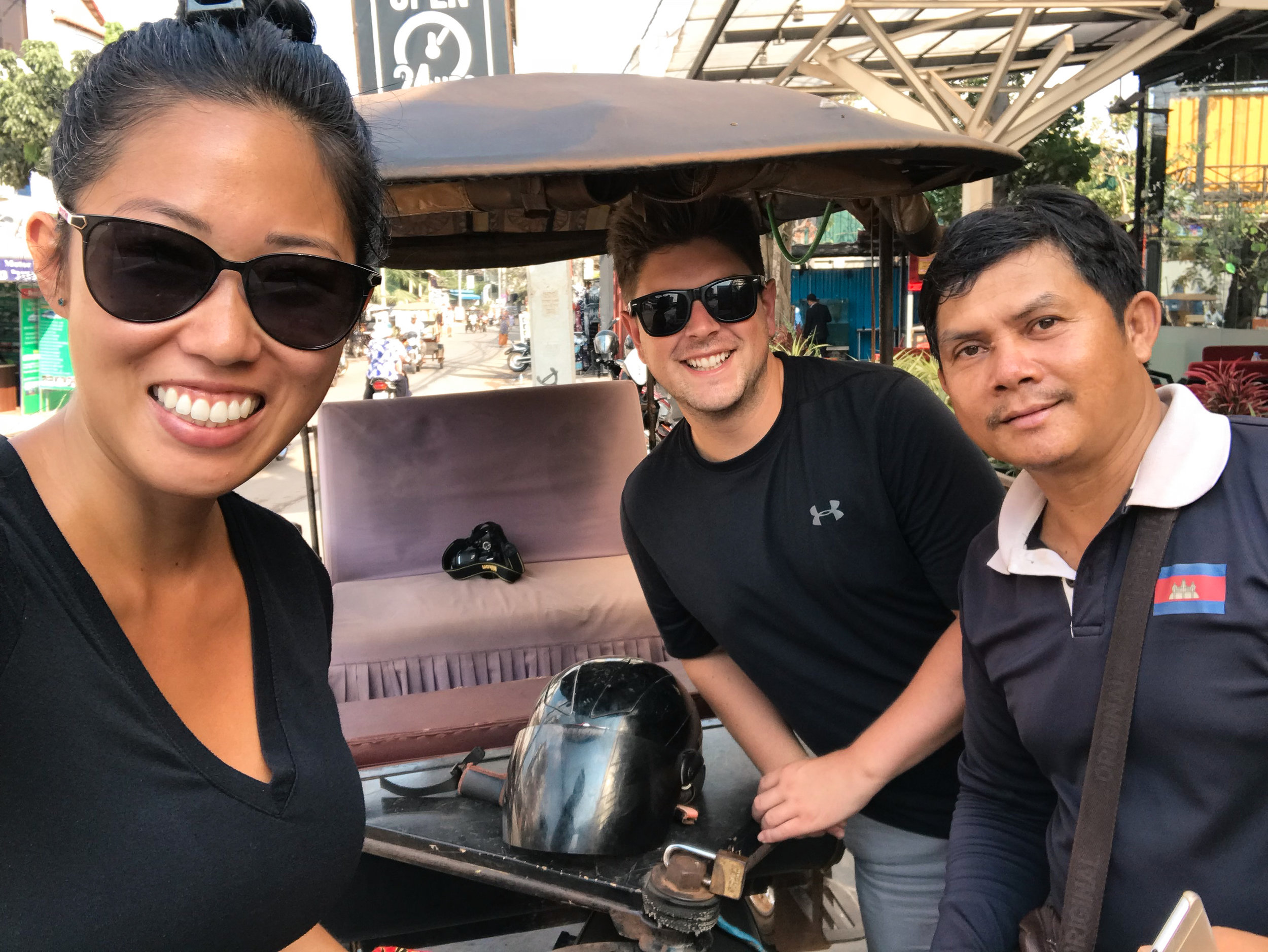 Smey, our Tuk Tuk driver and tour guide for 3 days in Siem Reap.