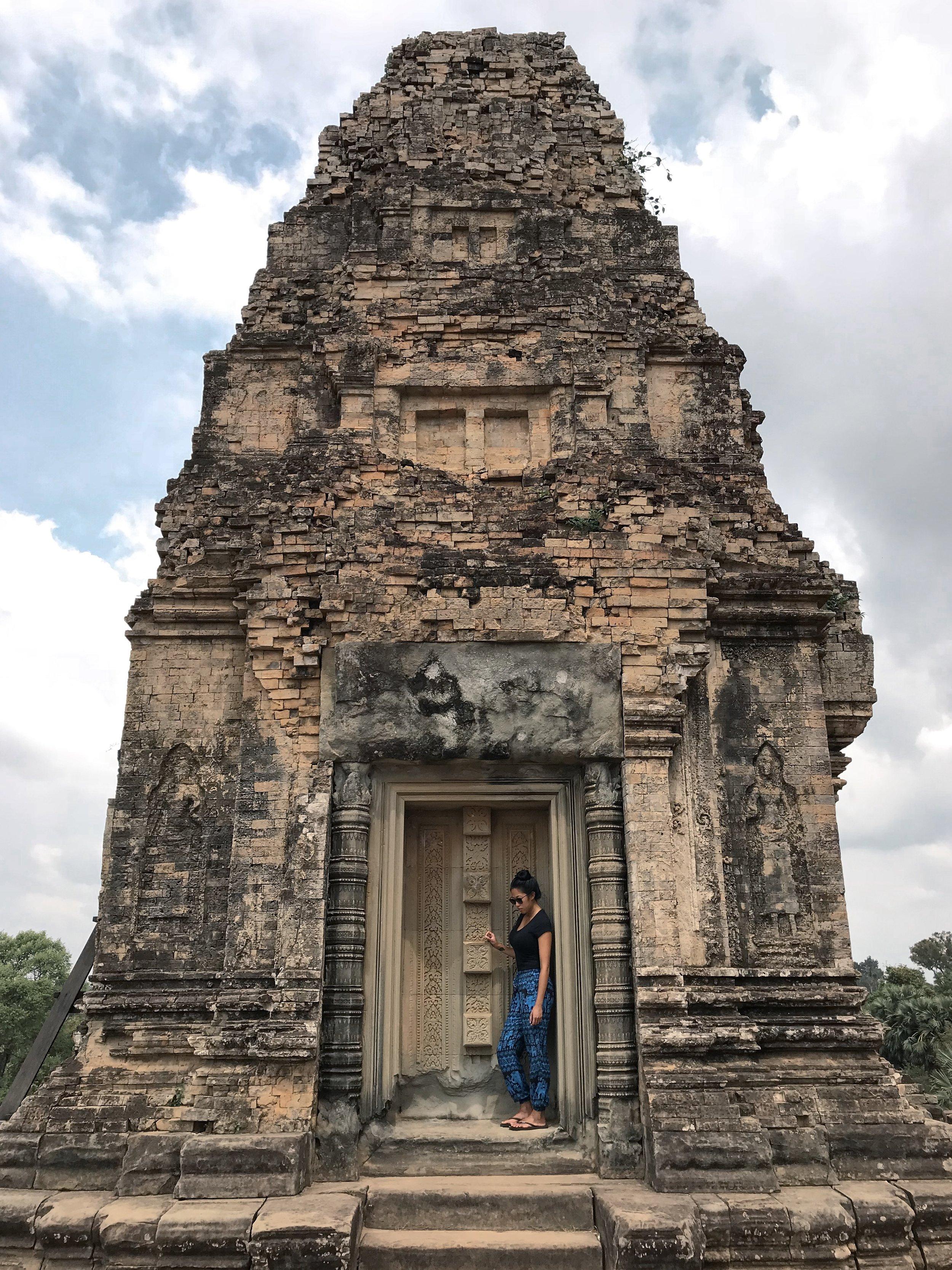 Photo taken at Angkor Wat.