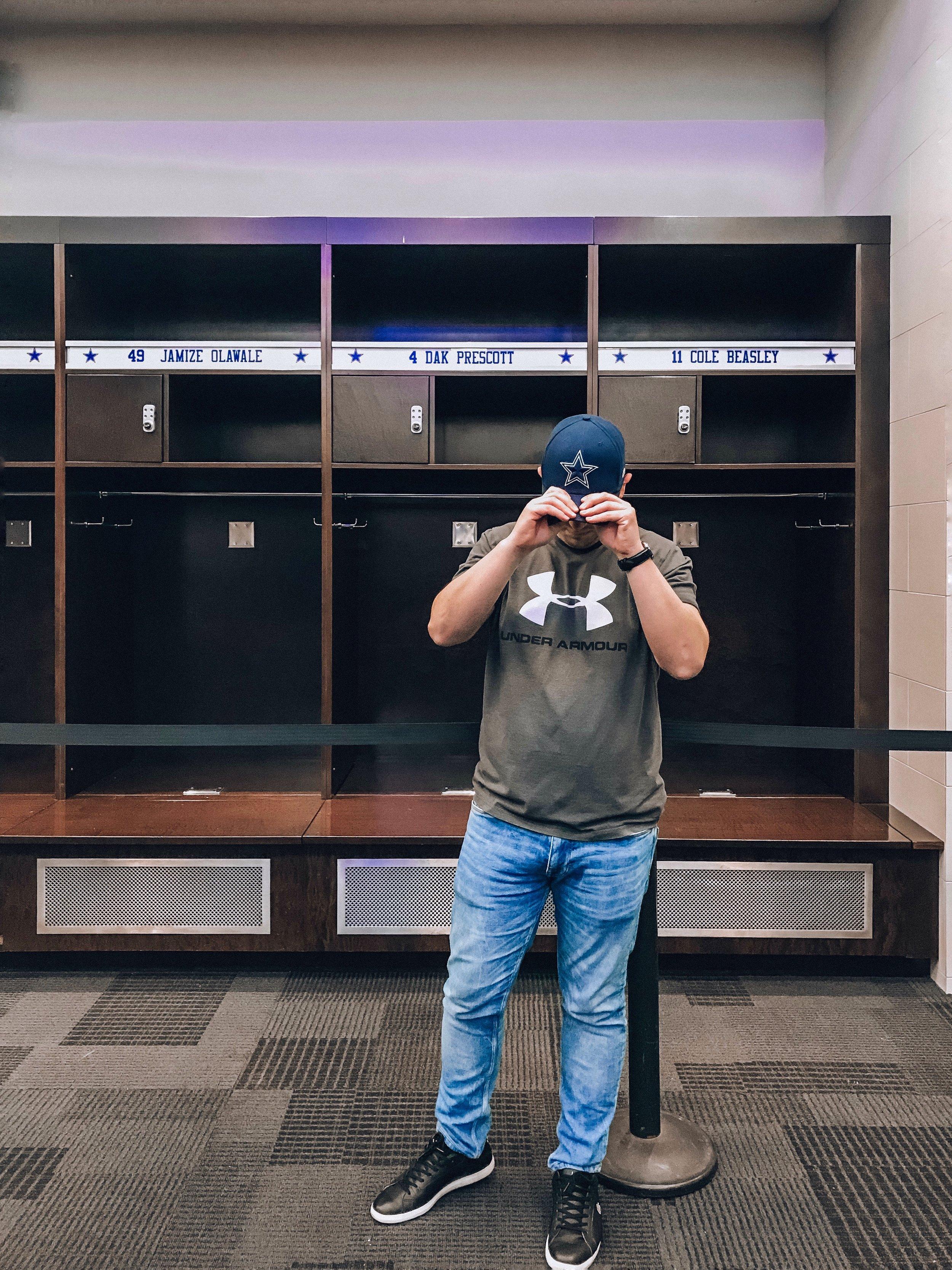 Locker Room at the ATT Stadium in Dallas, Texas
