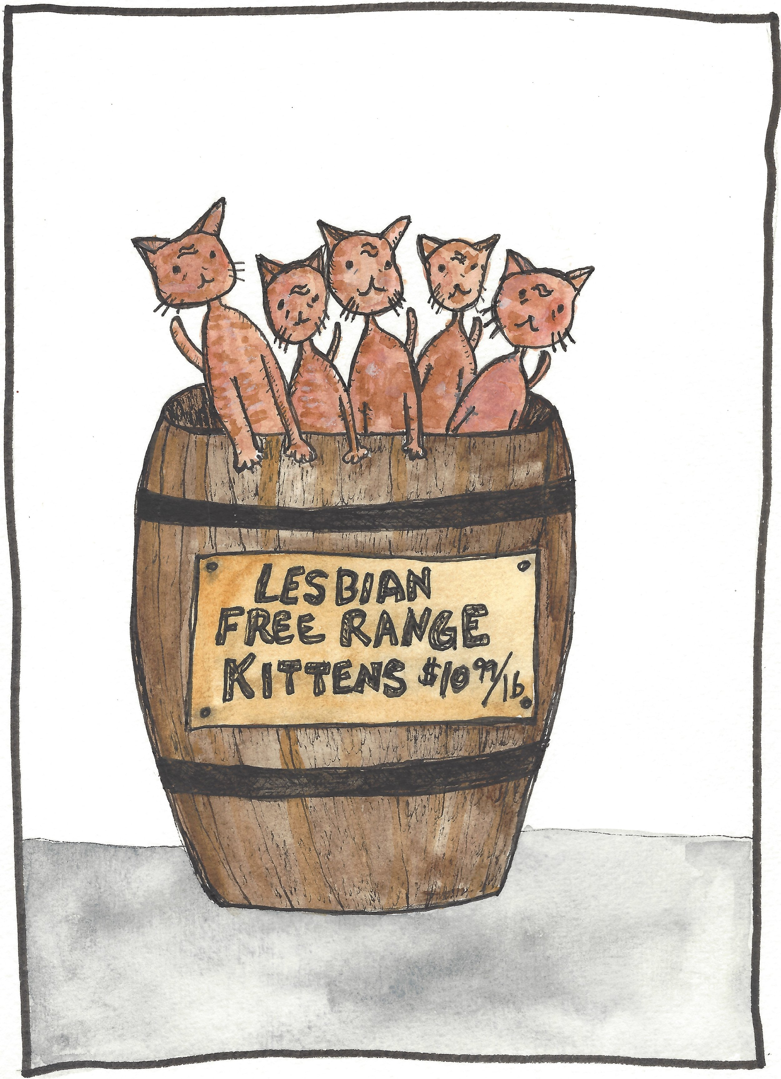 Lesbian Free Range Kittens