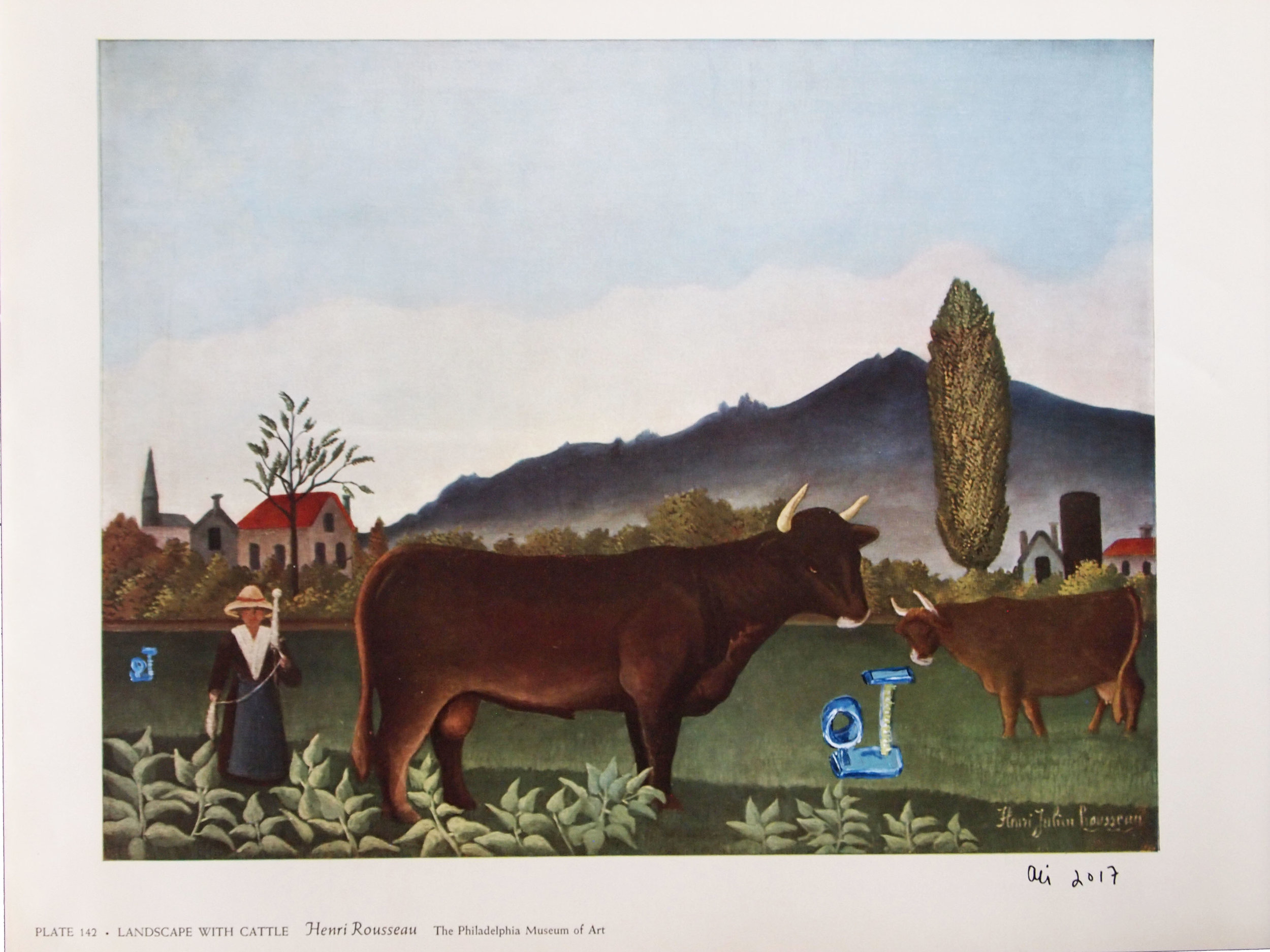 Landscape with Cattle and Cat Tree