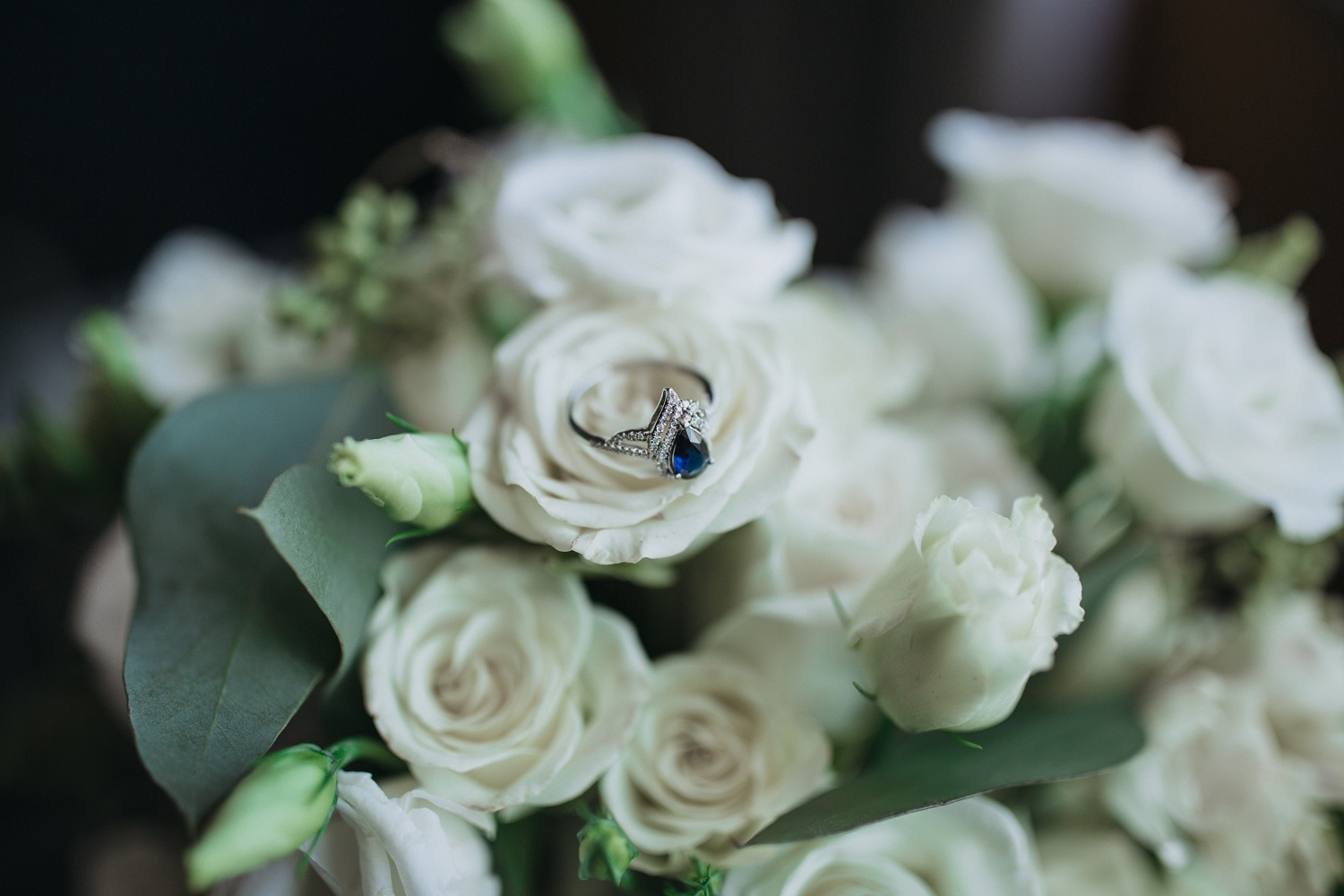 wedding ring bouquet