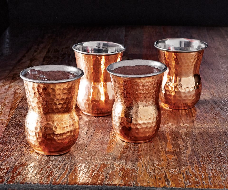 Staying on the copper theme, for a moment... We are CRAZY over these  copper tumblers  from Bottega in Napa. We went on a buying trip to Napa and Oregon before starting Sidney Clark Designs and had the privilege to eat at  Bottega  and drink out of these lovely tumblers. They keep your drink extra cold and fit perfectly in your hand! What's not to love?!? Plus, they make a gorgeous statement on a table or counter top!
