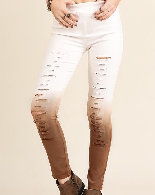 Ombree Distressed Jegging
