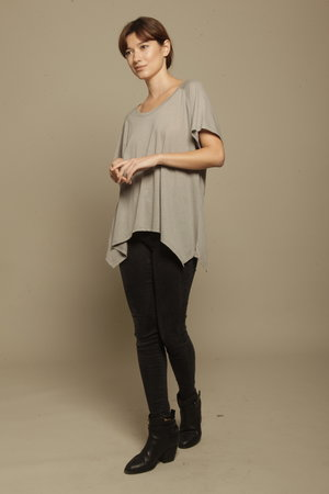 Grey Asymmetric T-shirt