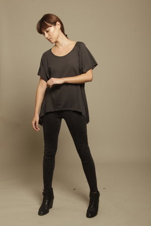 Charcoal Asymmetric T-shirt