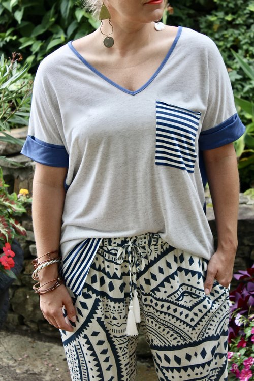 Mixing patterns with our Tribal Print Pant.