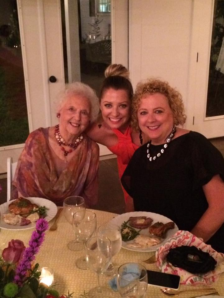 My Mother, Ruth, with Lindsay and me at Rehearsal Dinner.