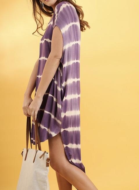 Lavendar Tie Dye Dress
