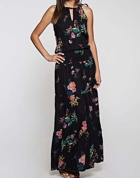 Smocked waist floral dress