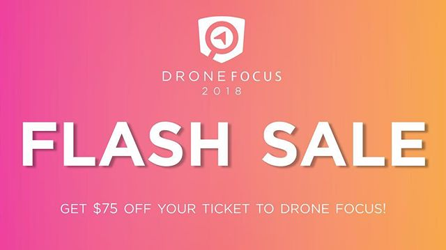 48 hour #flashsale for #DroneFocus in going on. Go to: http://bit.ly/2FiRm8i  Use discount code DRONEFLASH  We are speaking there along w leaders from the #UAS and #autonomy industries - should be a great event! #drone #uav #dronesatwork
