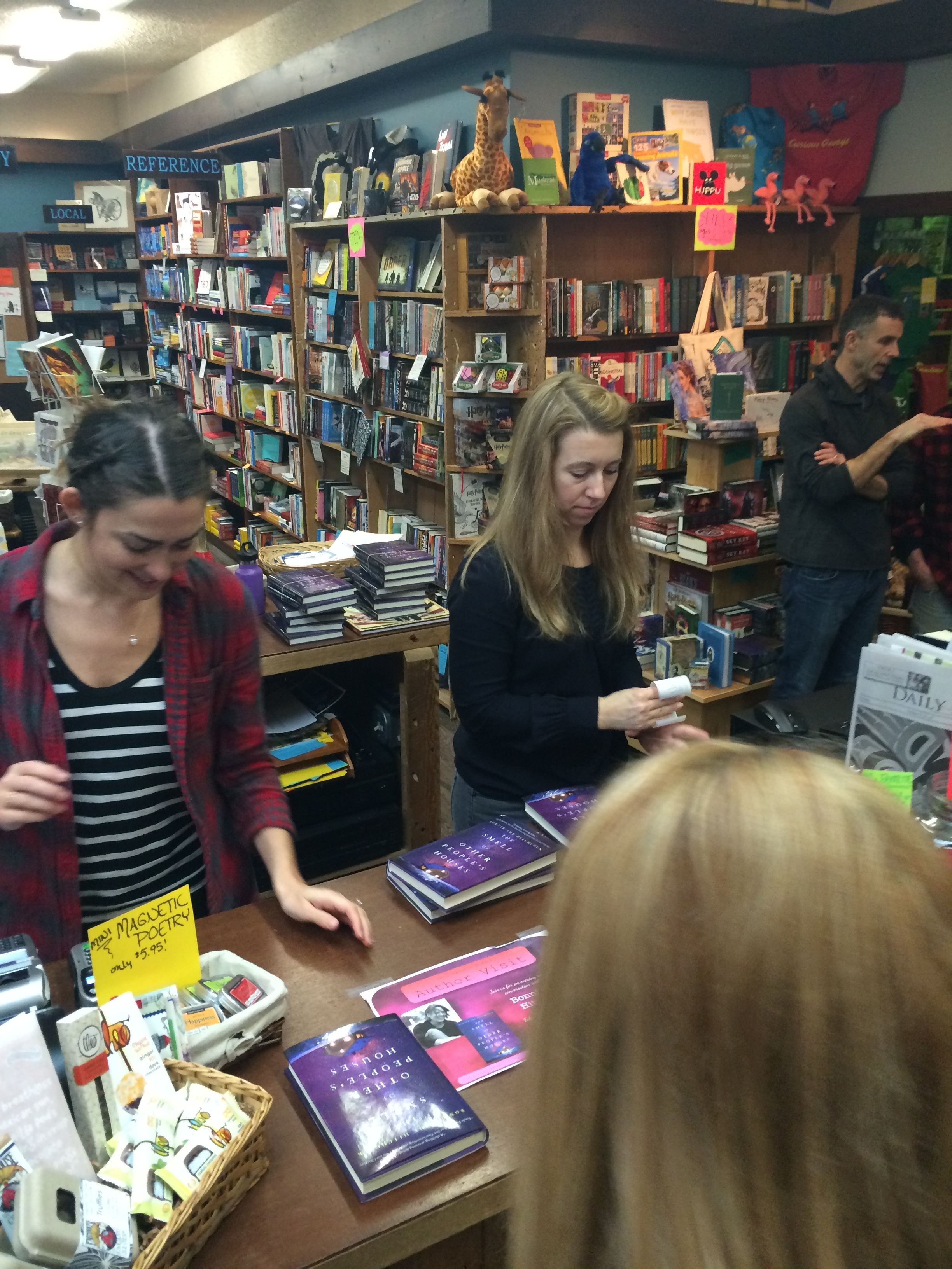 Rachel and Ashia, the magical Independent Booksellers of Old Harbor.  (Photo: Loren Waxman)